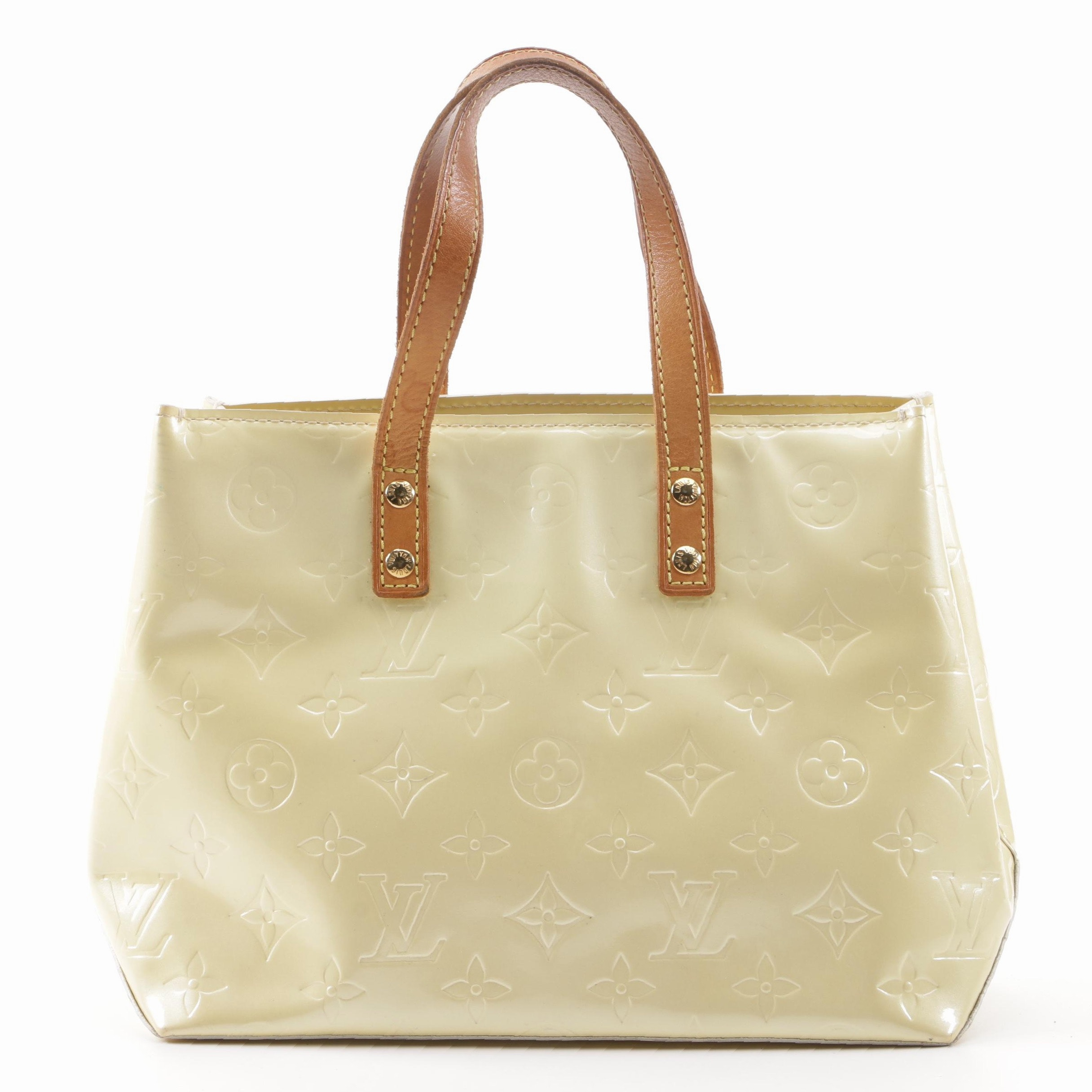 2005 Louis Vuitton Paris Citrine Monogram Vernis Reade PM Bag