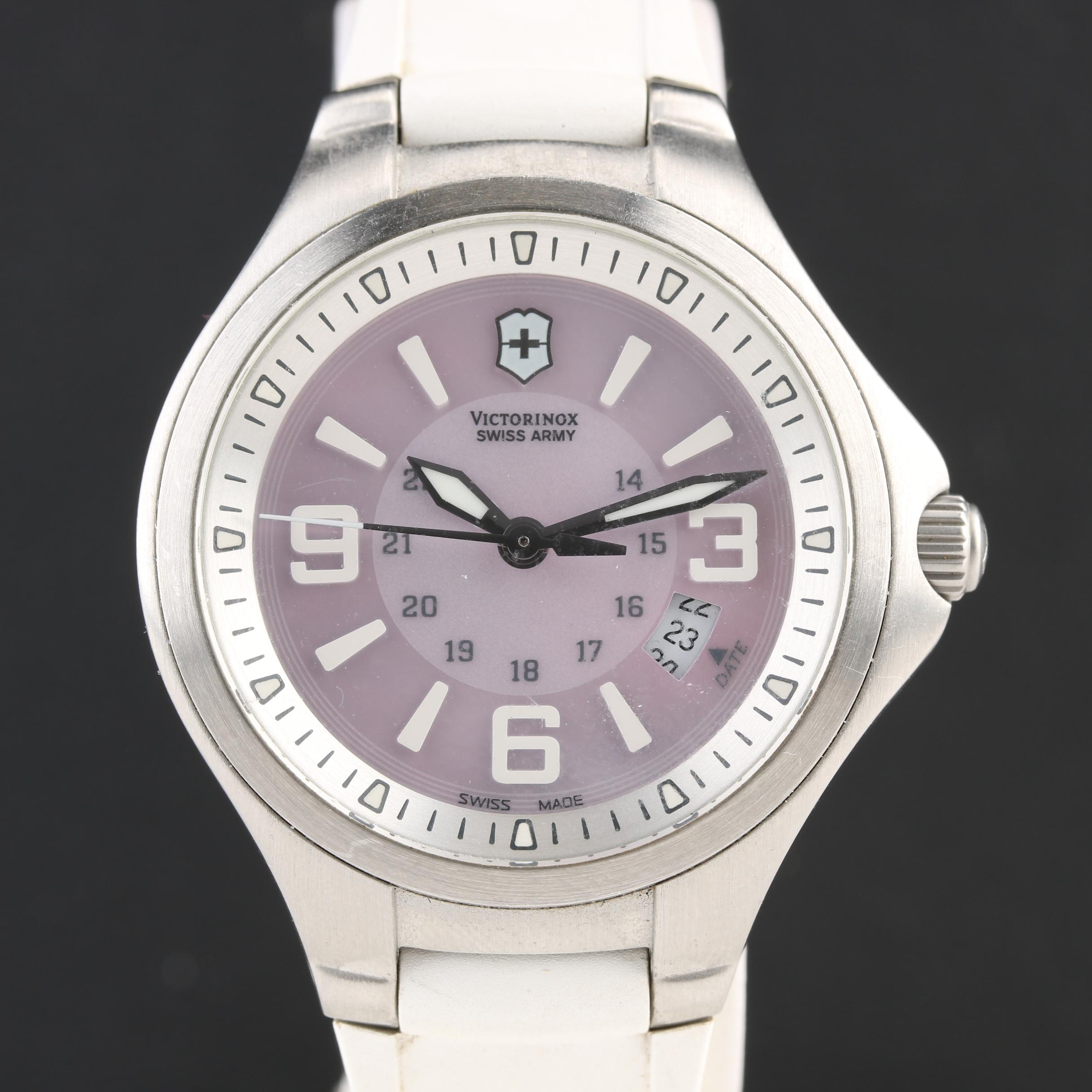 Victorinox Swiss Army Mother of Pearl Dial Wristwatch With Date Window