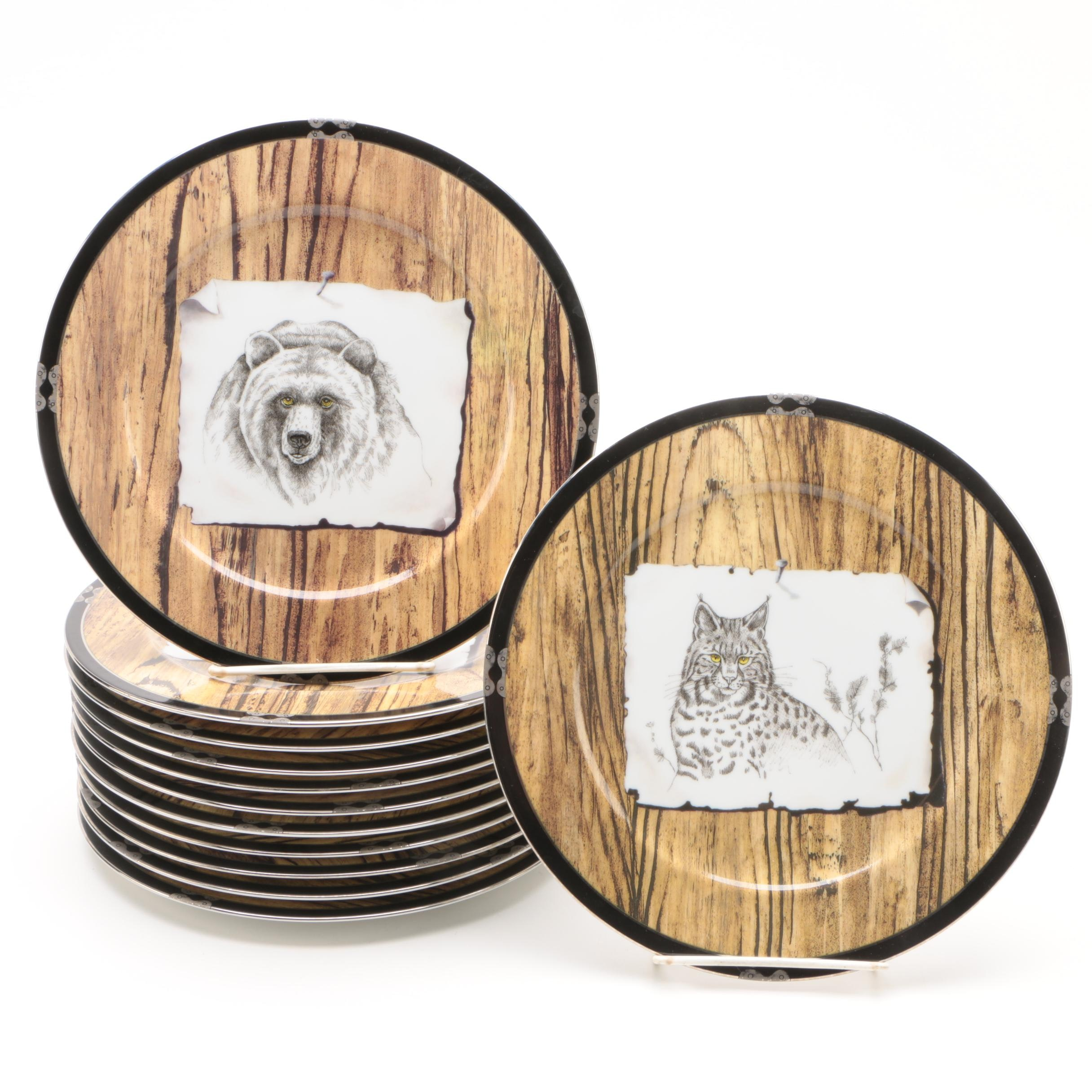 "Lynn Chase Designs ""American Pages"" Porcelain Salad Plates"