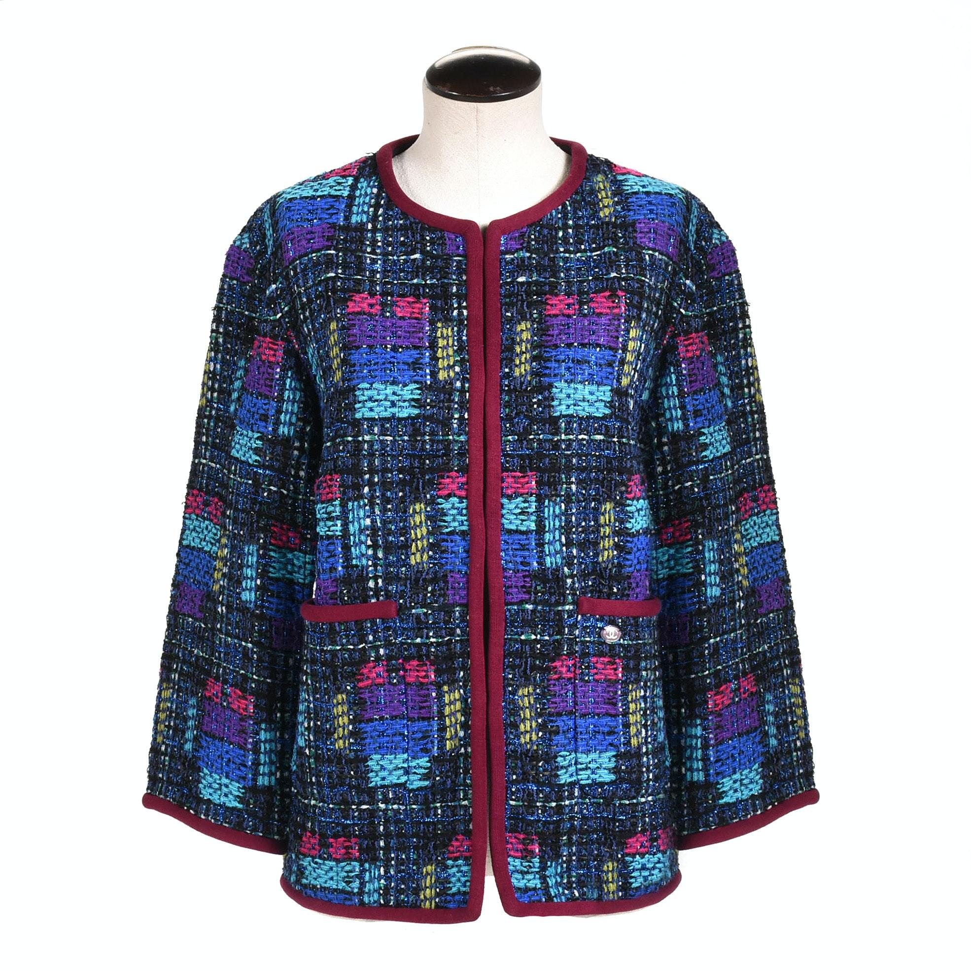 Women's Chanel Jewel Tone Tweed Jacket