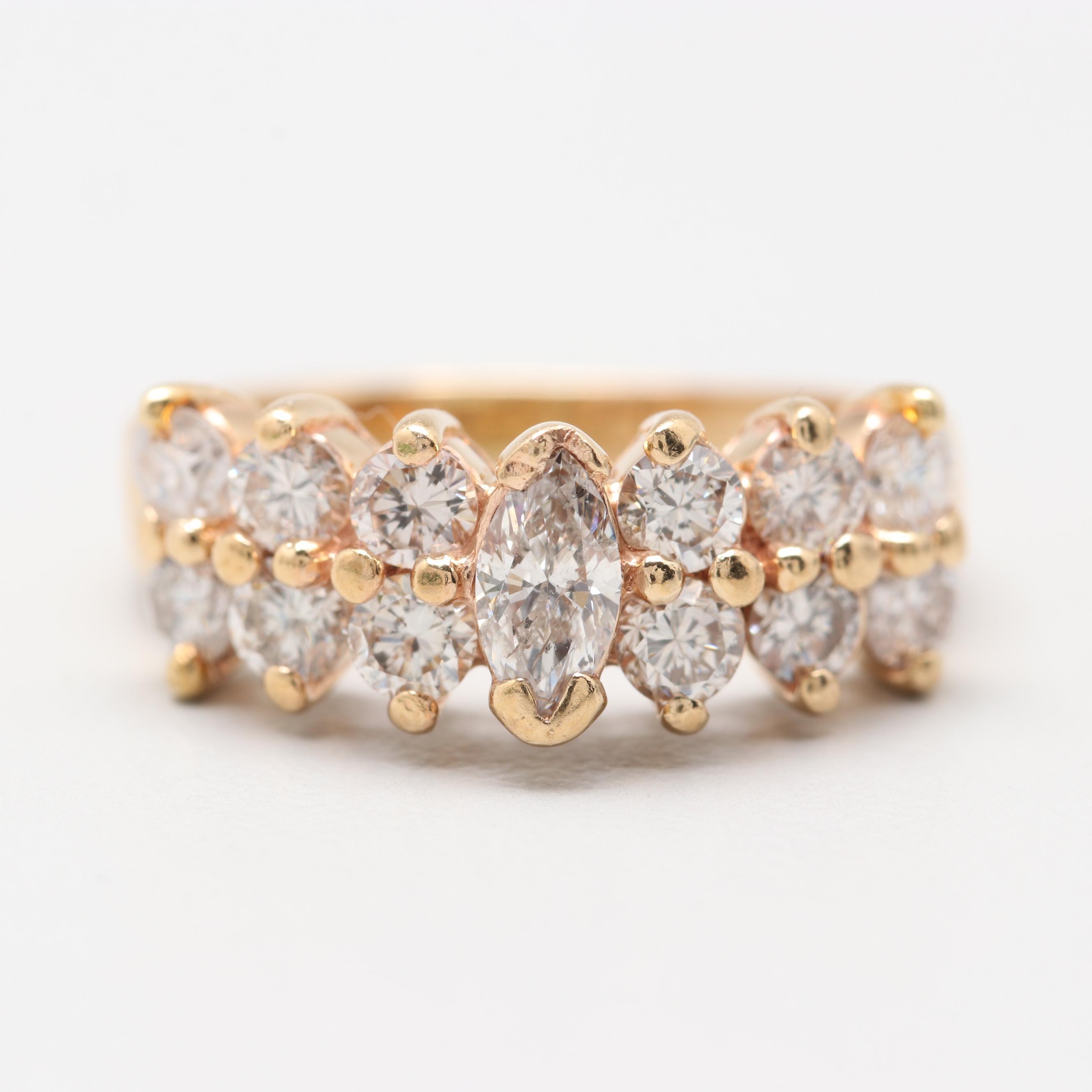 EFFY 14K Yellow Gold 1.07 CTW Diamond Ring