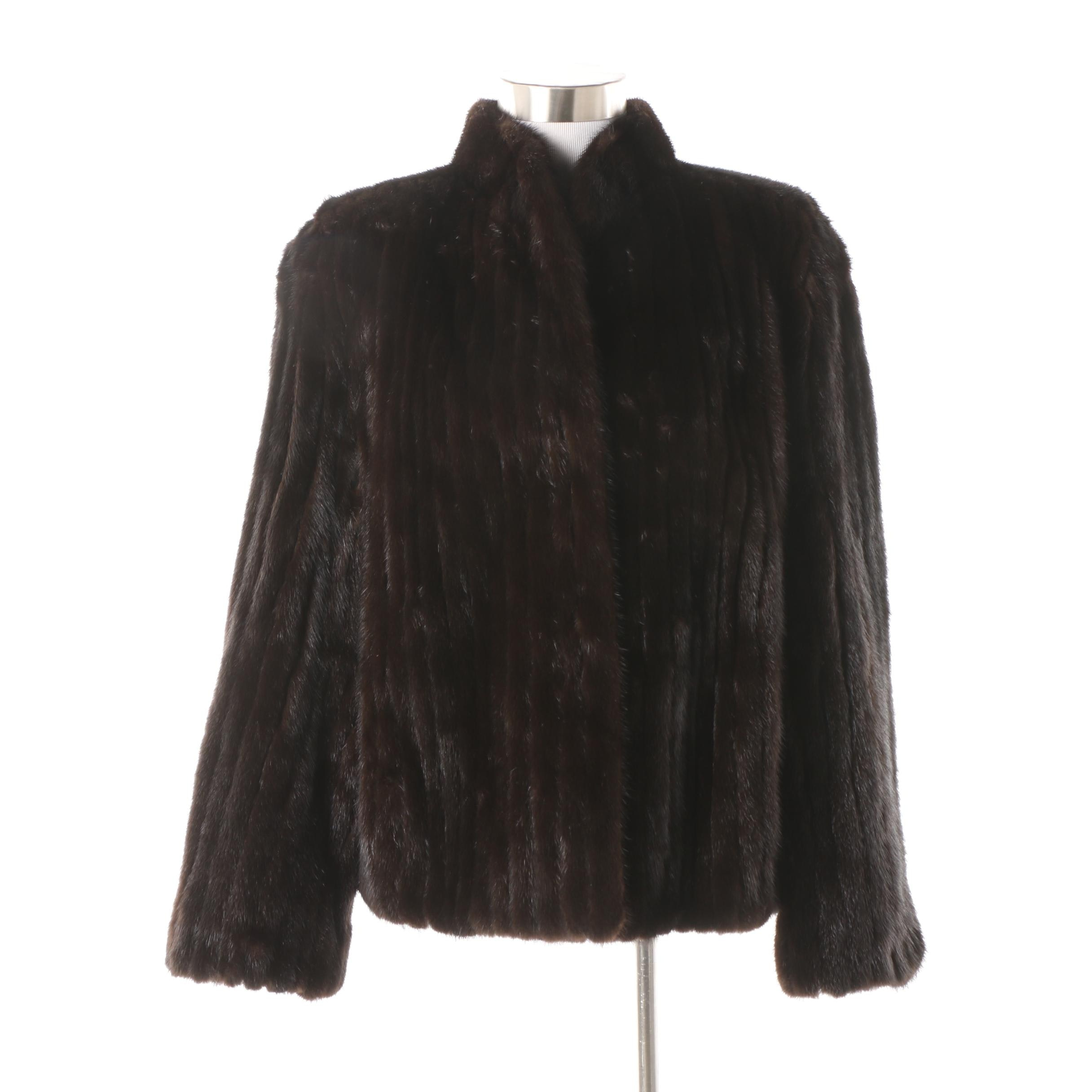 Women's Channel Stitched Mink Fur Coat