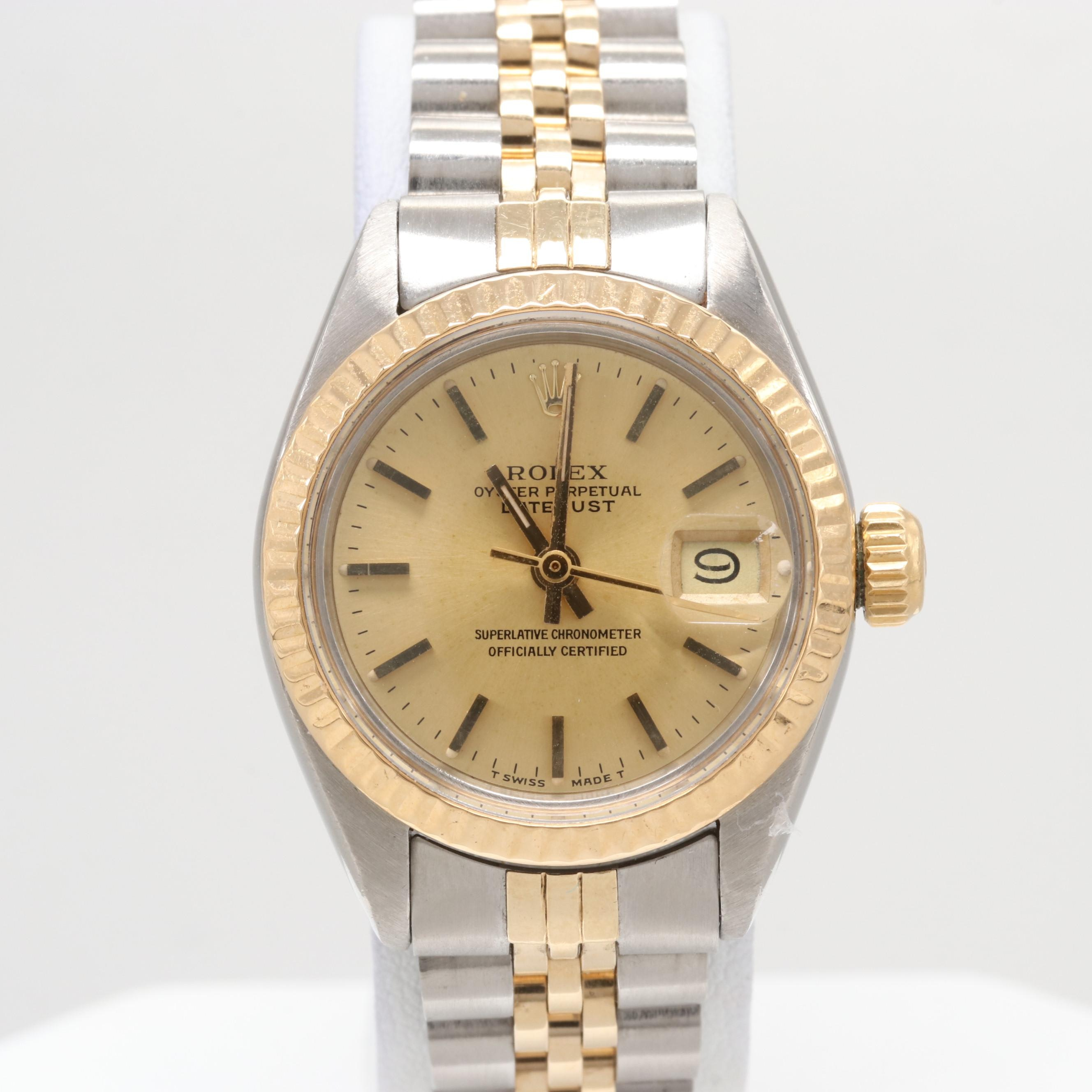 Rolex Datejust Stainless Steel and 18K Yellow Gold Automatic Wristwatch, 1979