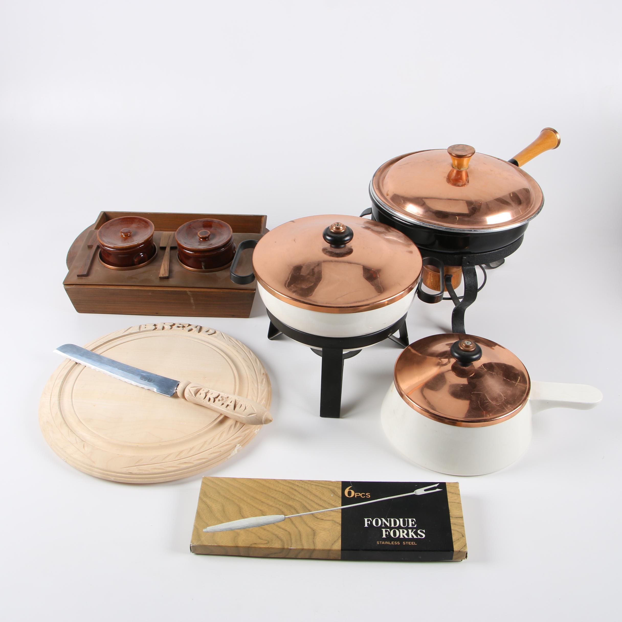 Cookware and Serveware including Fondue Sets