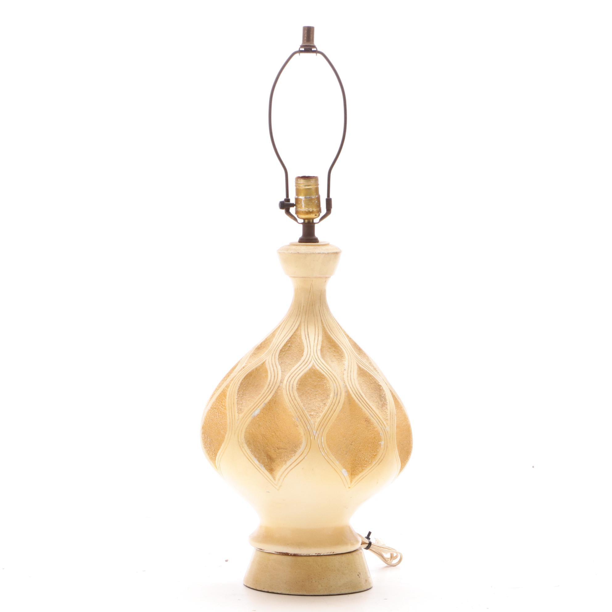 Mid Century Style Ceramic Table Lamp