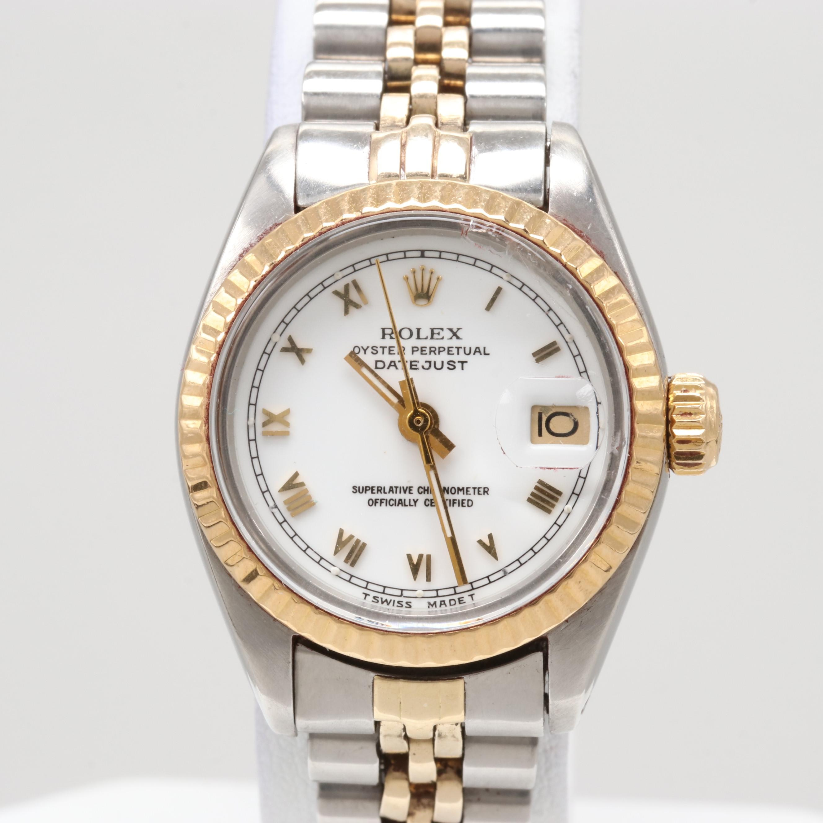 Rolex Datejust Stainless Steel and 18K Yellow Gold Wristwatch, 1981