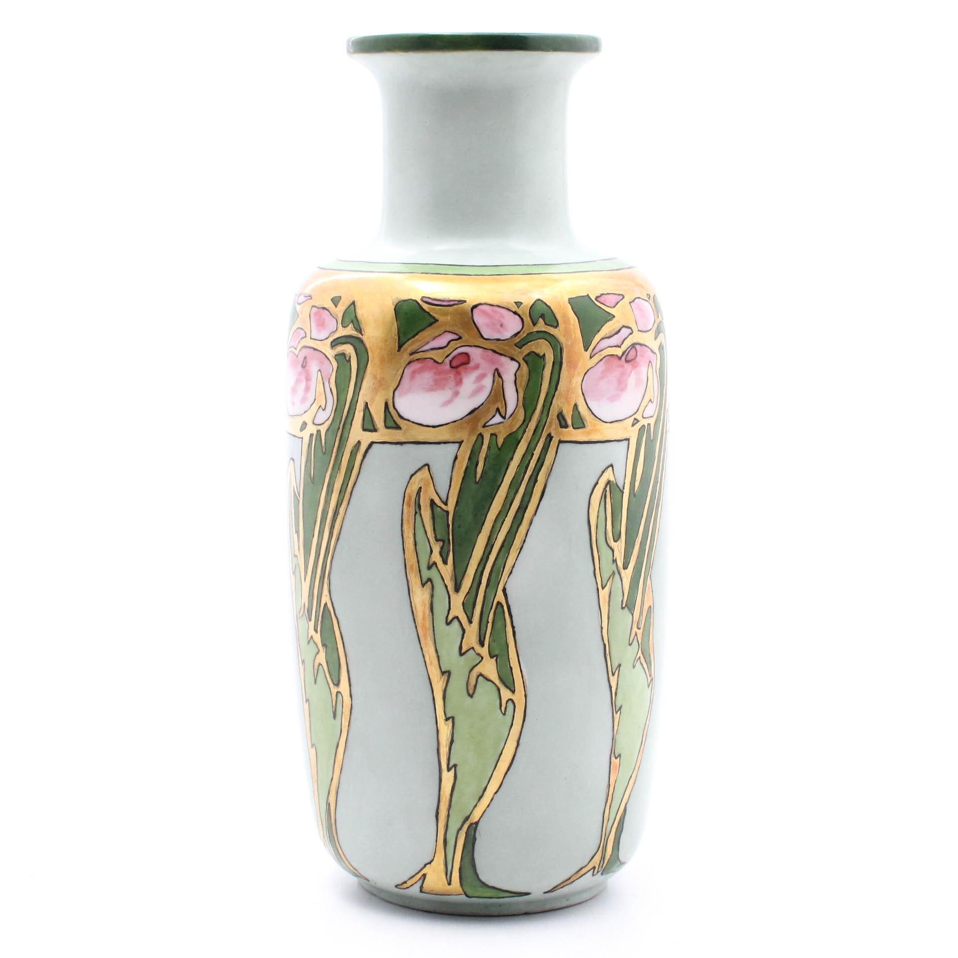 Art Nouveau Schönwald Hand-Painted Bavarian Vase, circa 1927