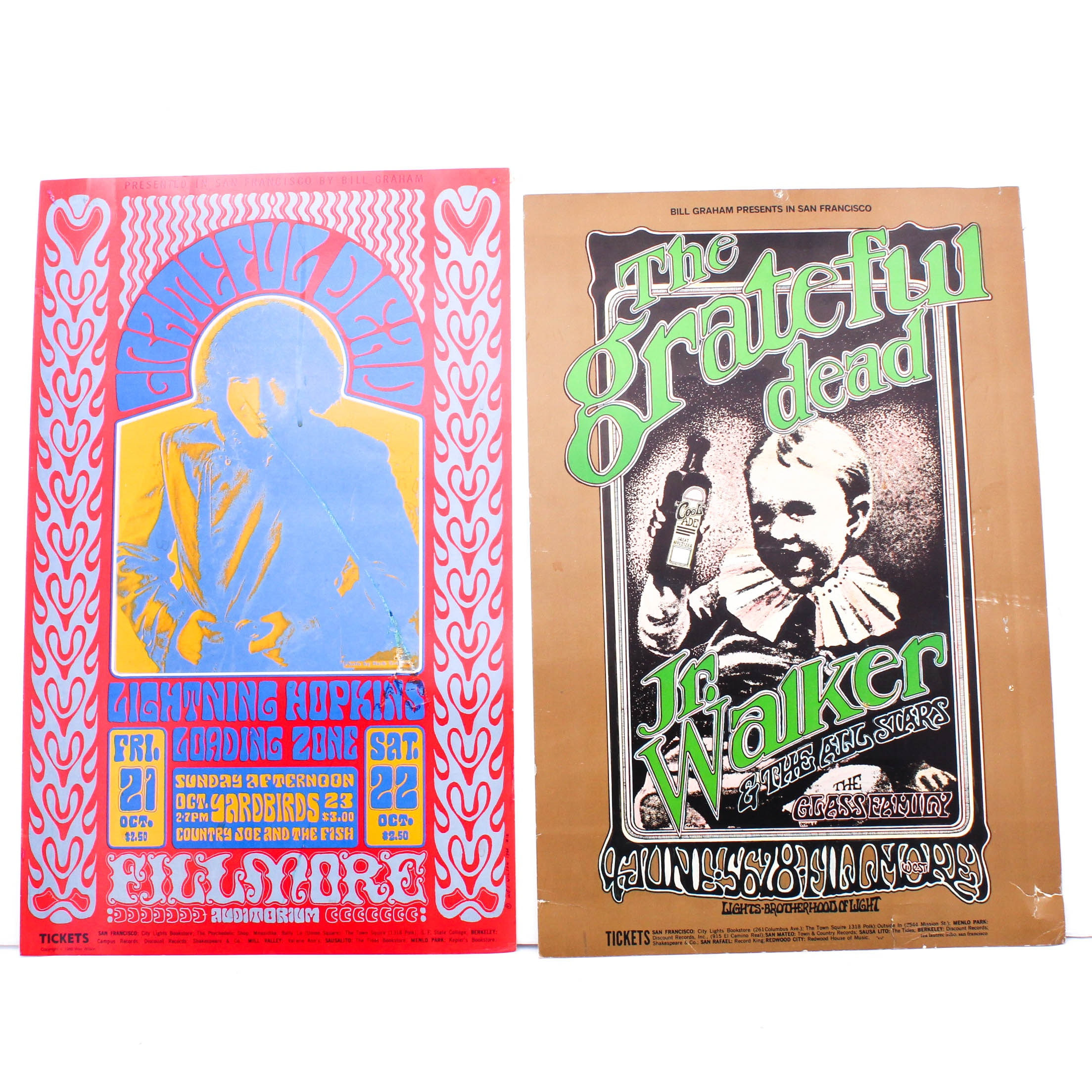 Vintage Bill Graham The Grateful Dead Posters