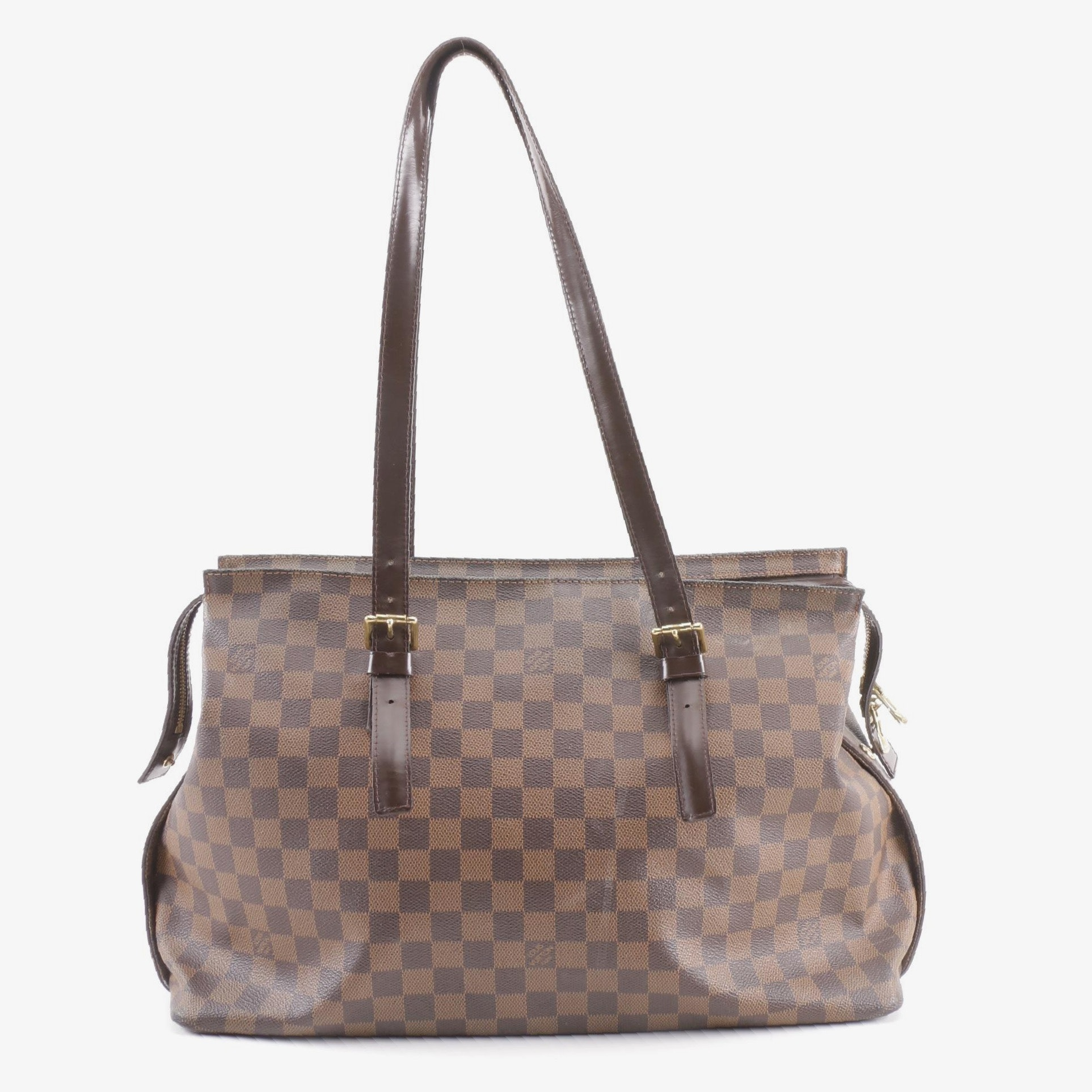 2006 Louis Vuitton Paris Damier Ebene Canvas Chelsea Tote
