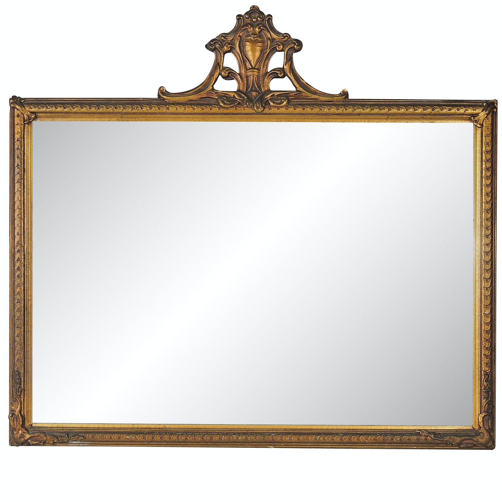 Art Nouveau Gold Gilt Mirror