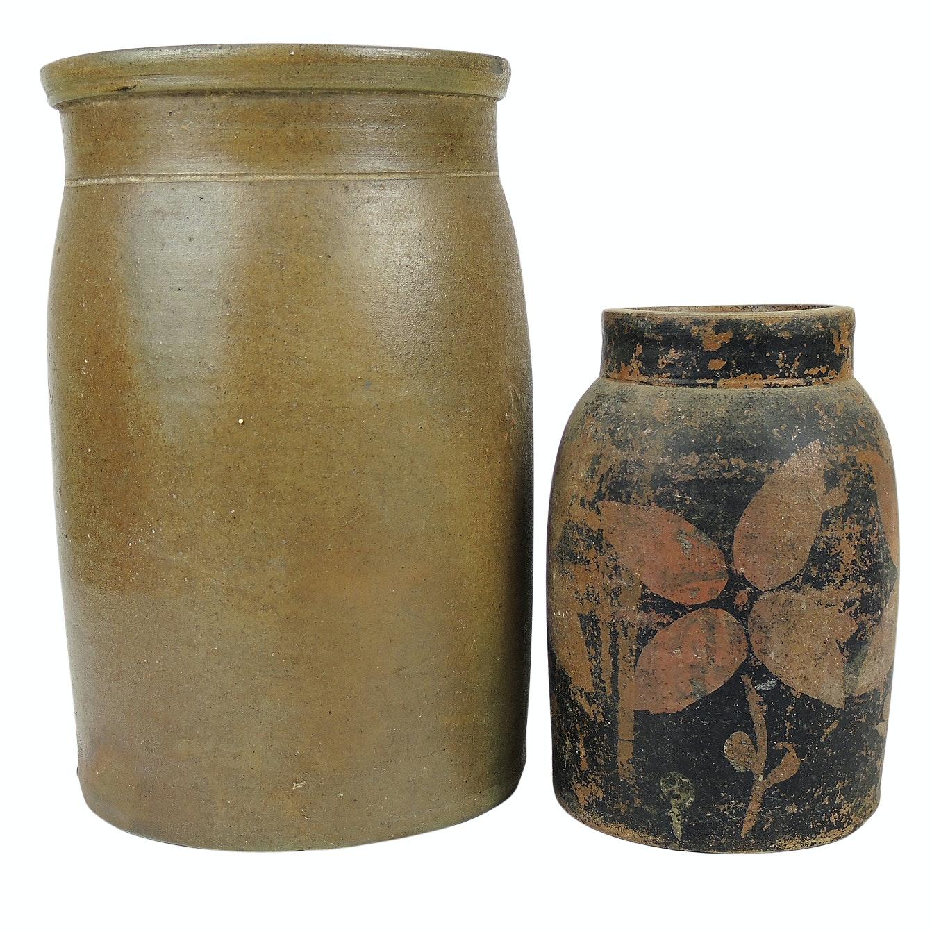Stoneware Pickling Crocks