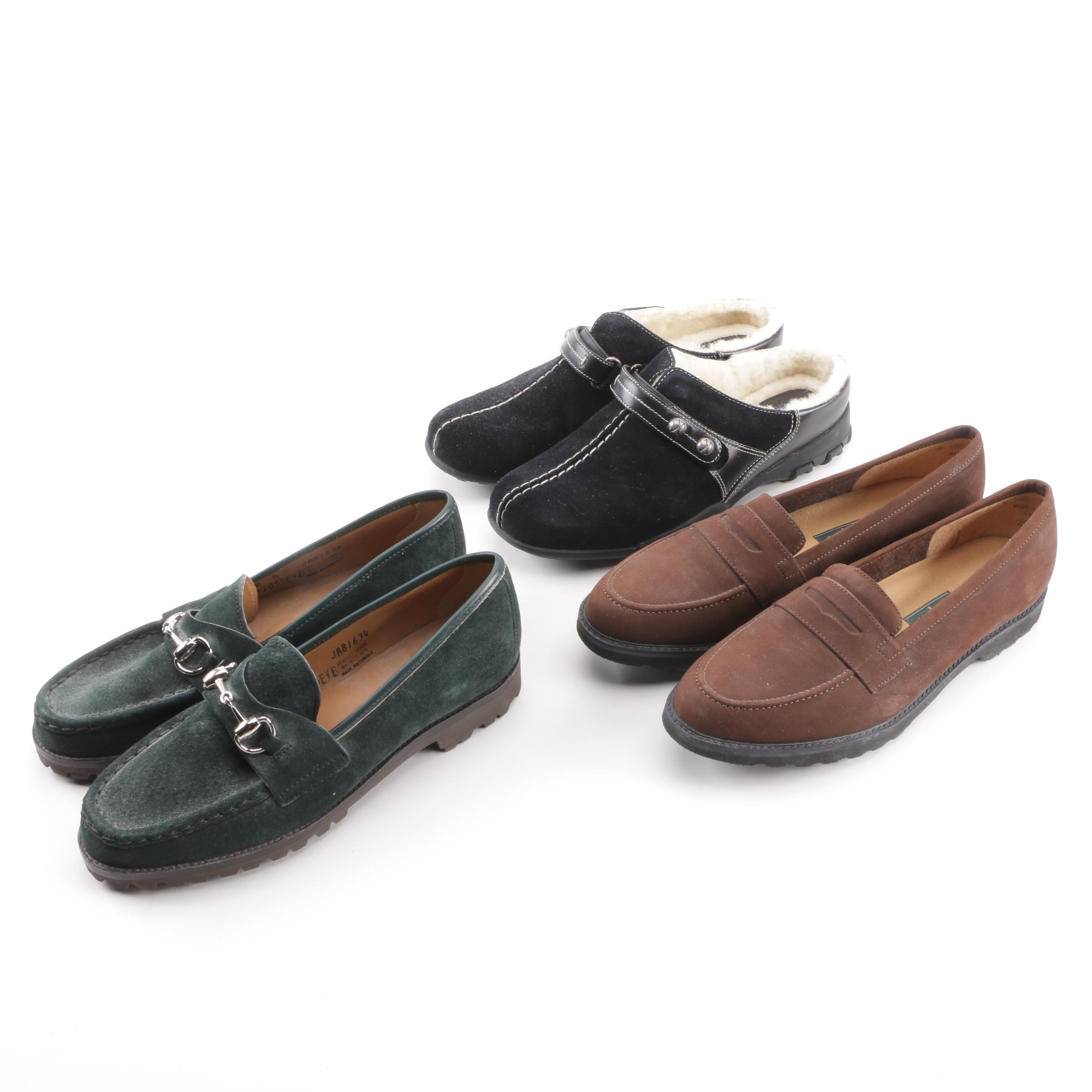 Women's Cole Haan Meribel Shearling Clogs with Tweeds and Rockport Loafers