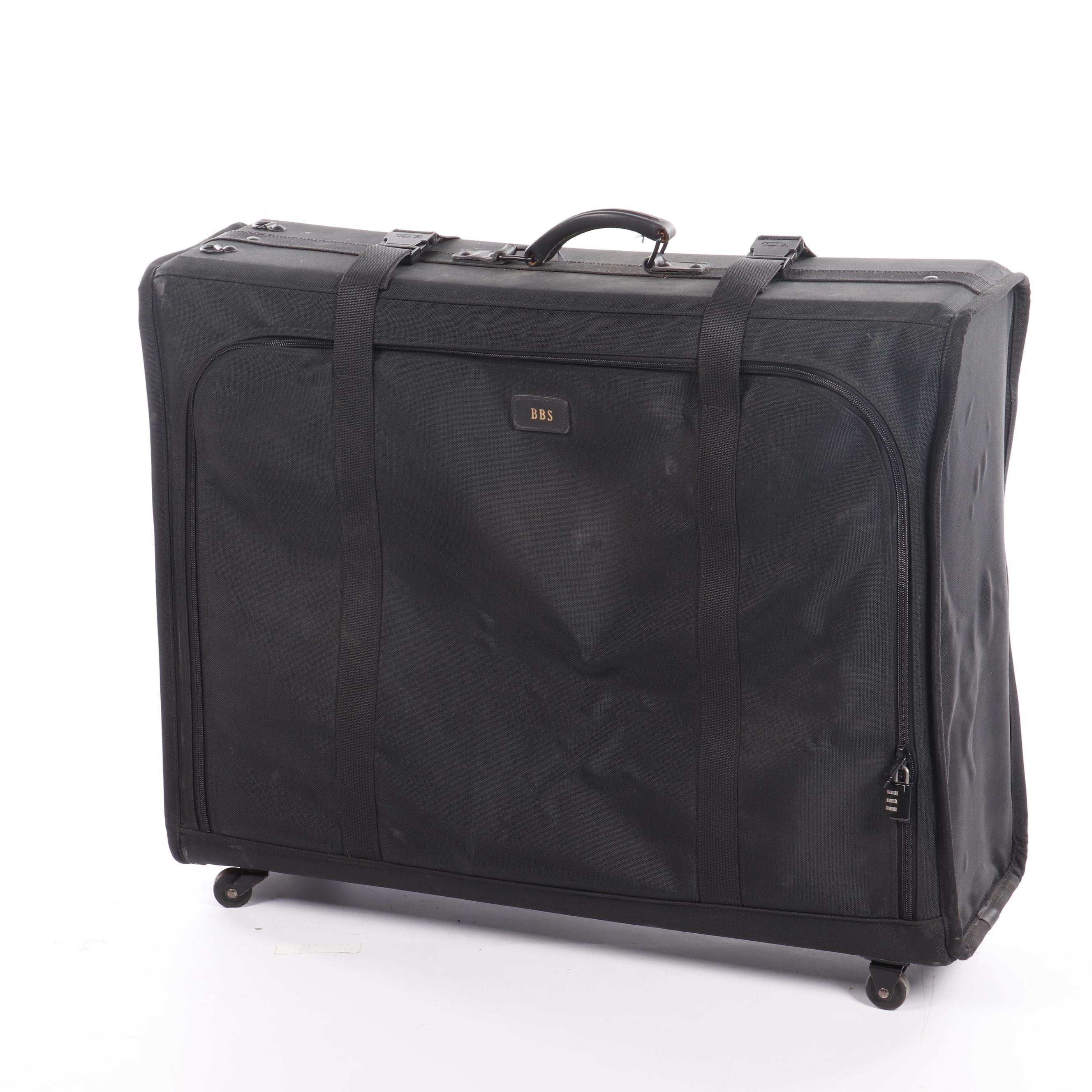 Tumi Black Nylon Rolling Suitcase