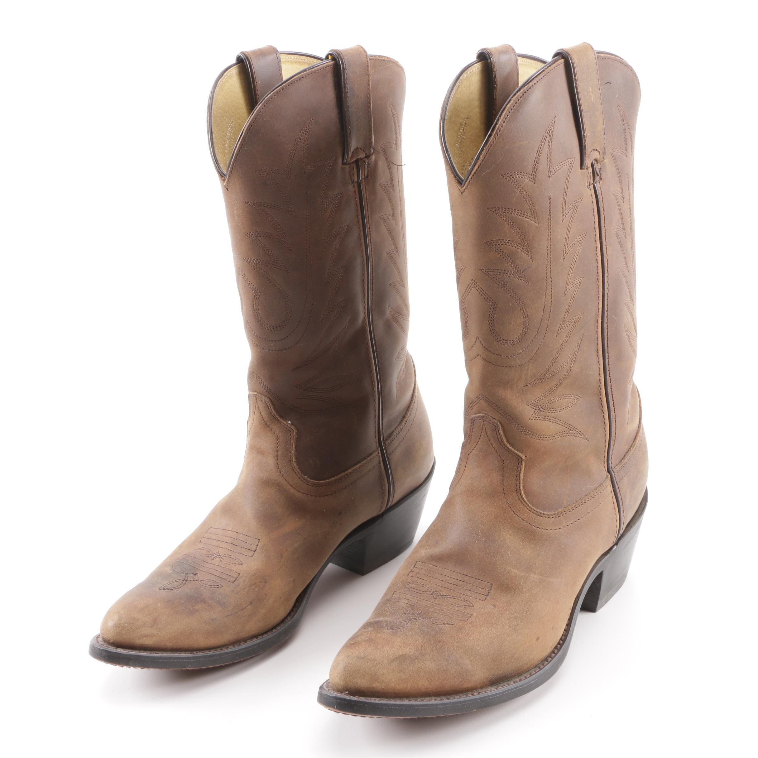 Women's Durango RD4112 Tan Leather Western Boots