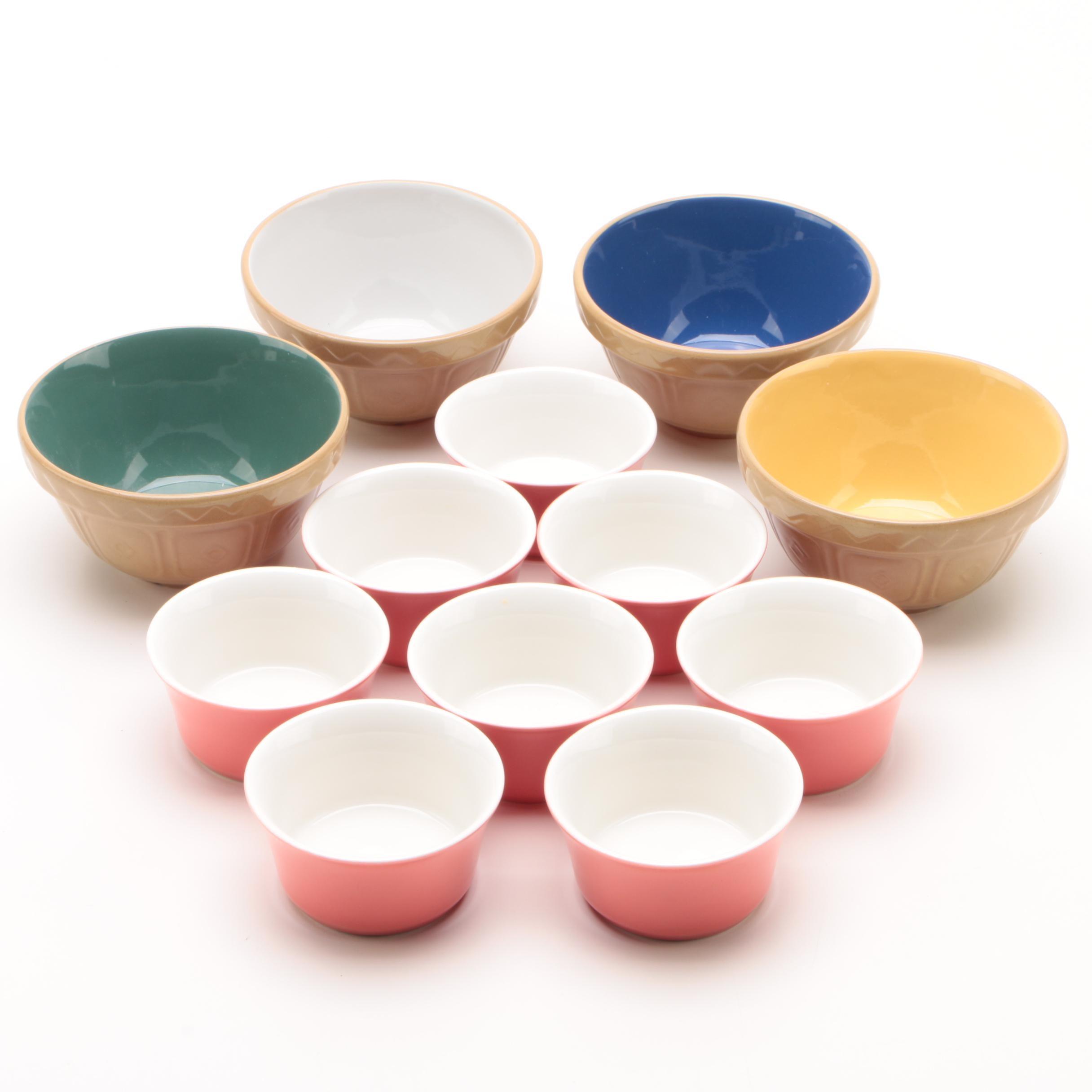 Mason Cash England Miniature Mixing Bowls with Custard Cups