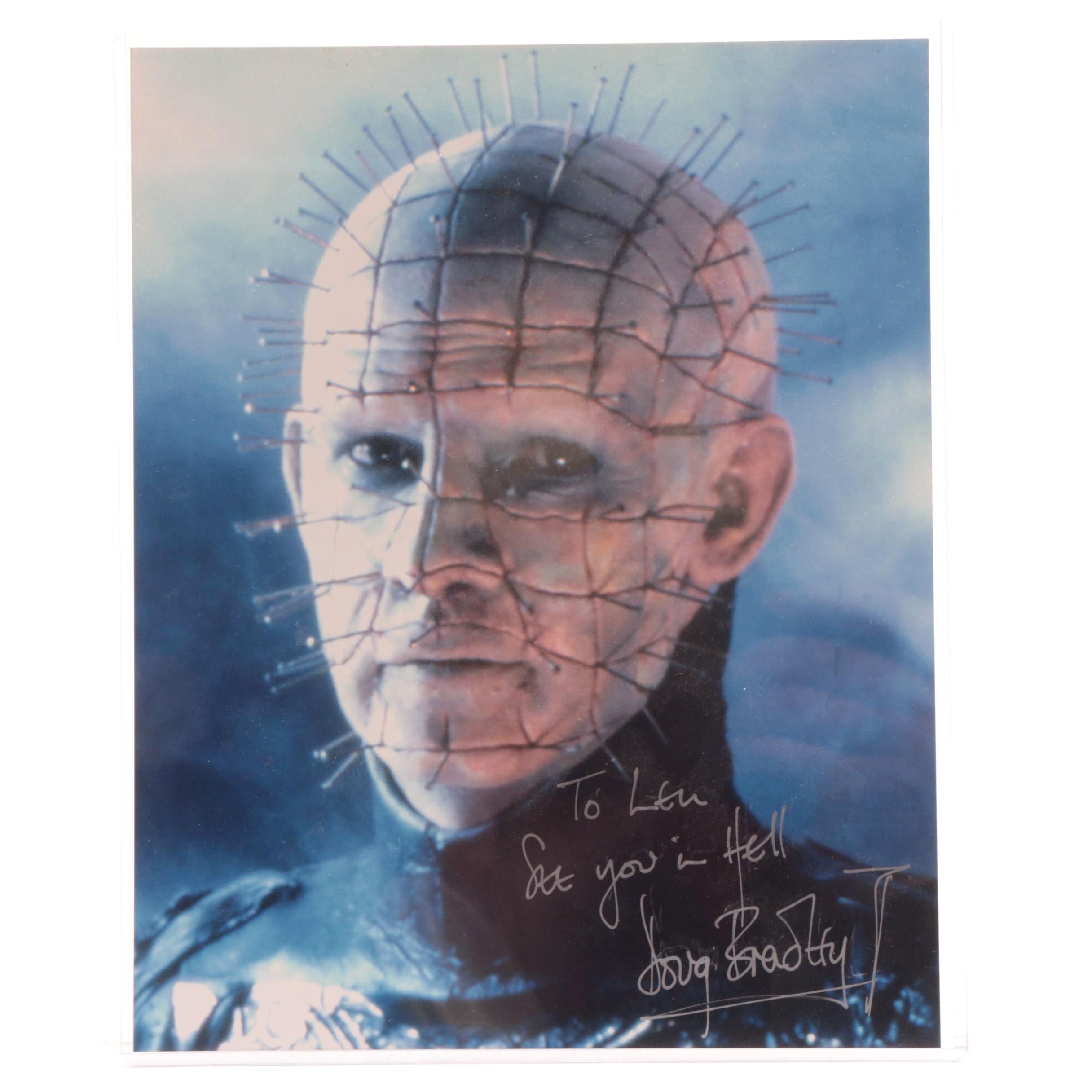 "Doug Bradley Signed Photograph of Pinhead Character from ""Hellraiser"" the Movie"