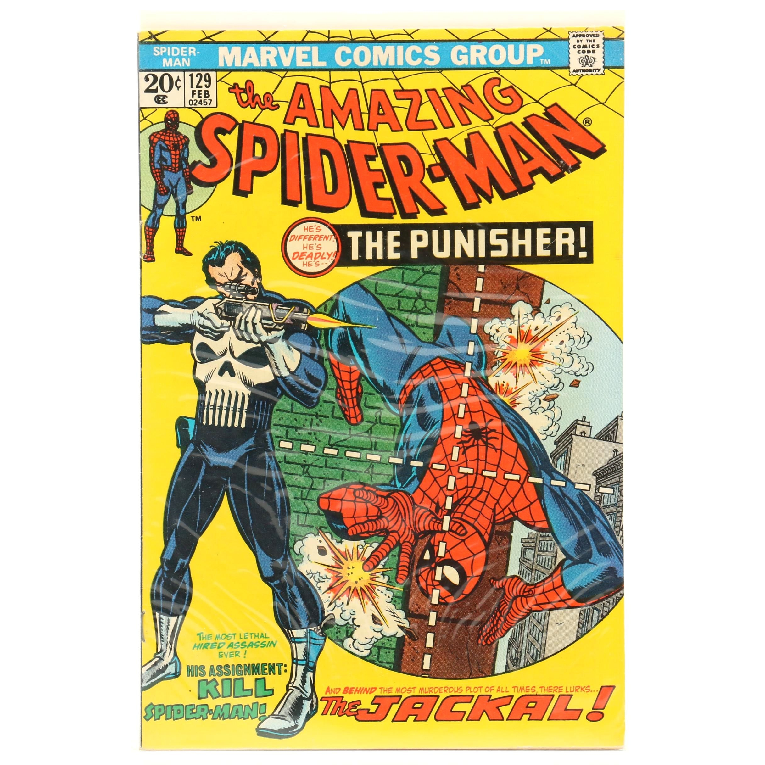 "1974 First Appearance of the Punisher in ""The Amazing Spider Man"" #129 Comic"