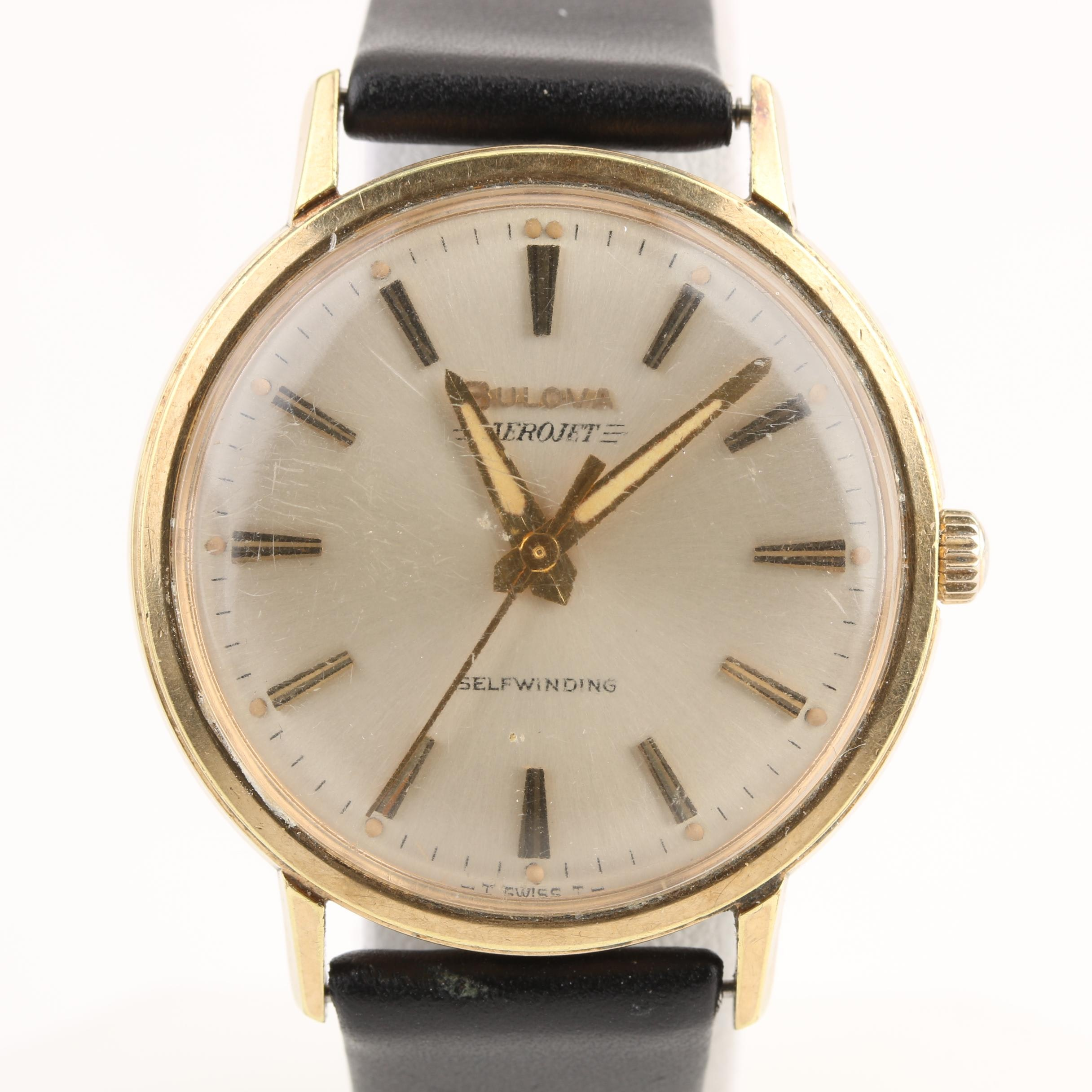 Bulova Aerojet Gold Plate and Stainless Steel Wristwatch