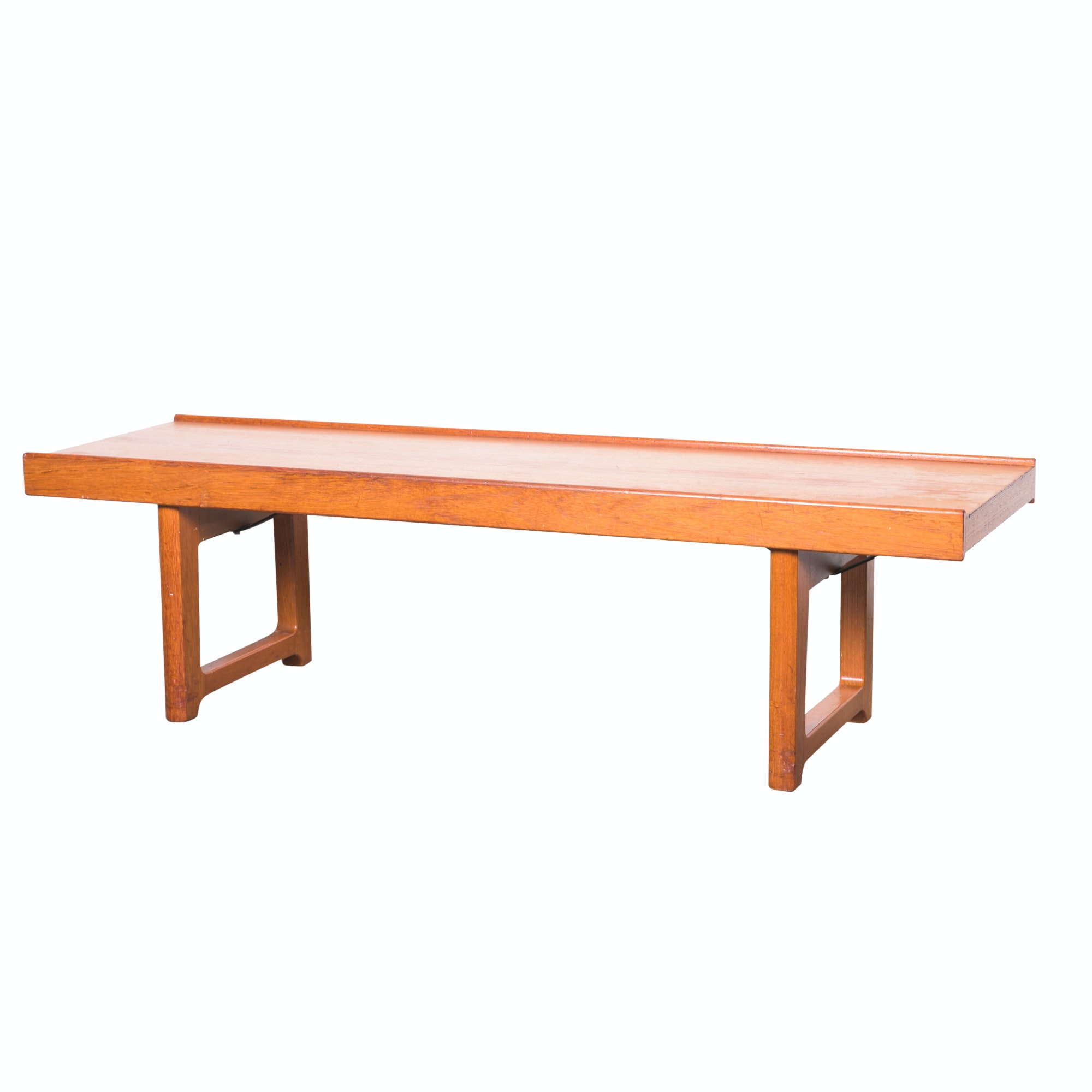 "Norwegian Modern Teak ""Korbo"" Bench by Torbjørn Afdal for Bruksbo, 1960s"