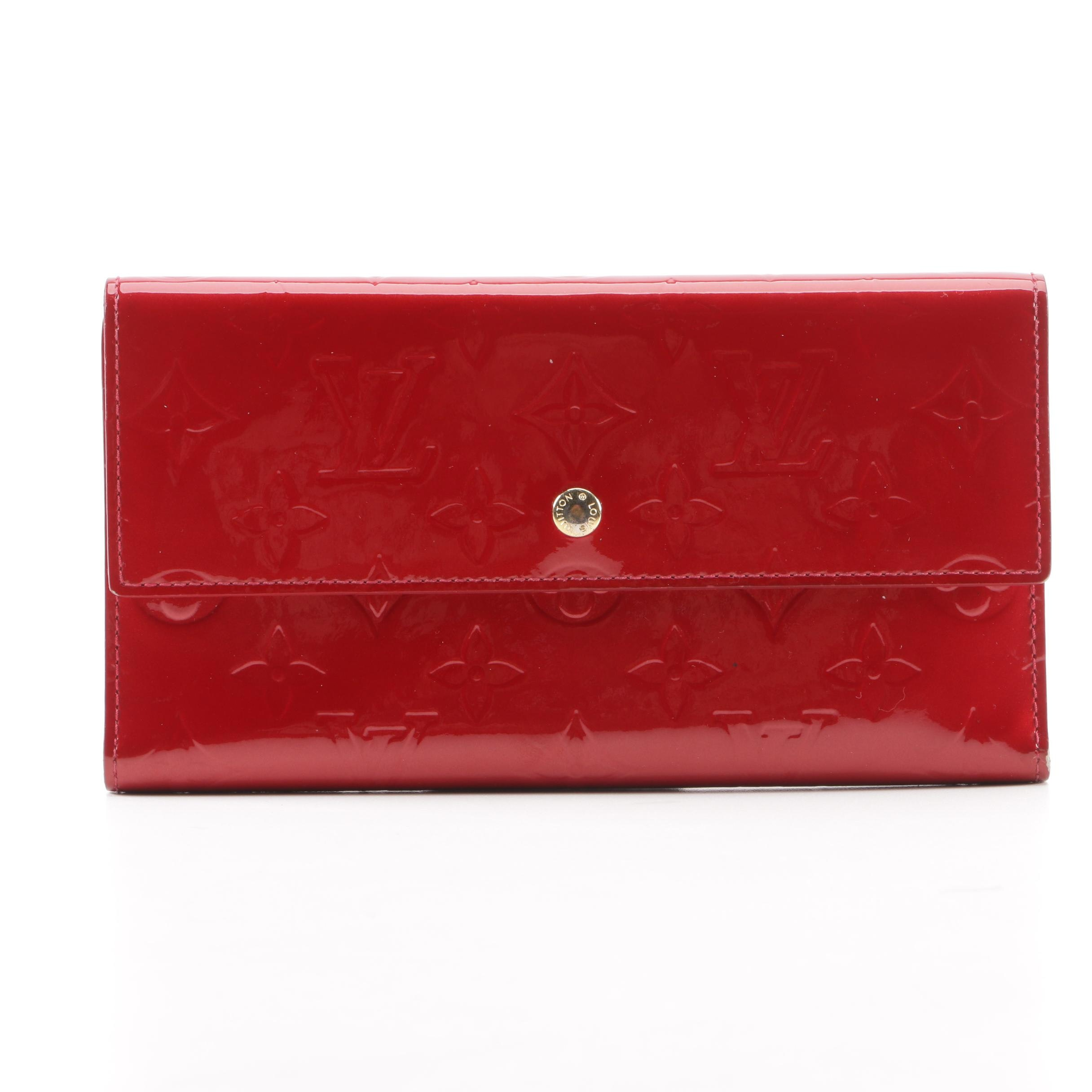 2006 Louis Vuitton Paris Red Vernis Leather Wallet