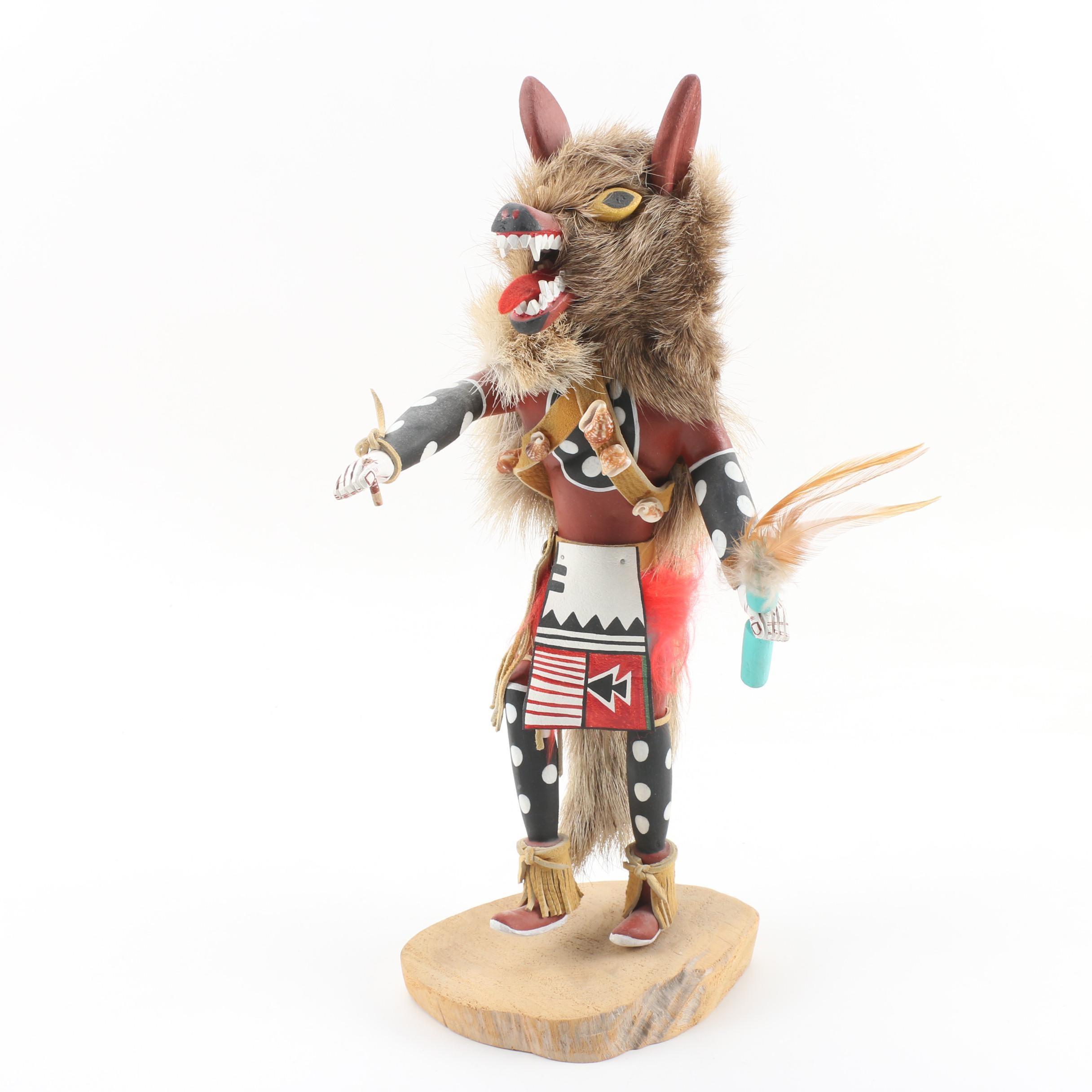 "L. M. Peña ""Wolf"" Kachina Doll, 1982"