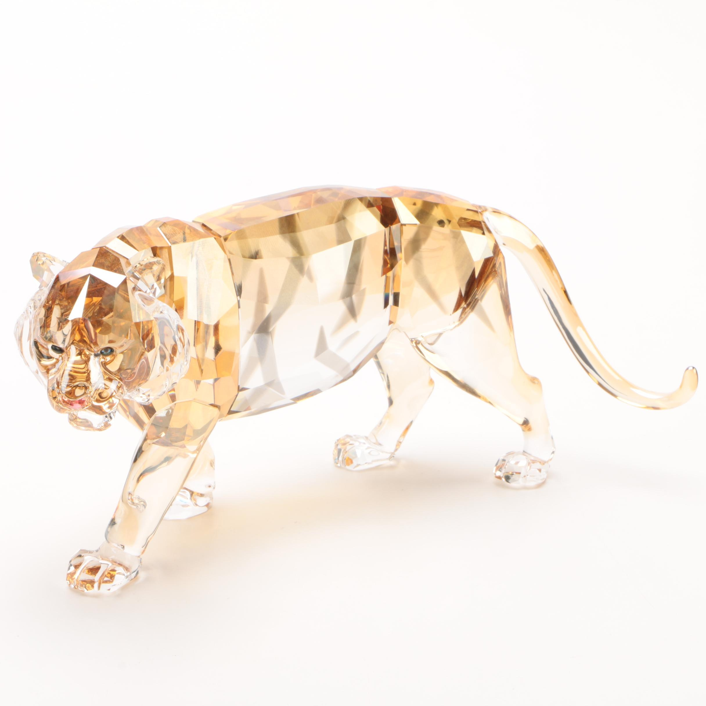 "Swarovski Endangered Wildlife ""Tiger"" Crystal Figurine, 2010"