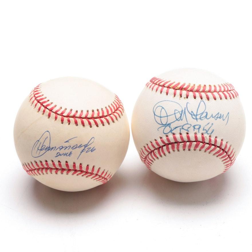 a423d8dfb6e Don Larsen and Orlando Hernandez Signed Baseballs   EBTH