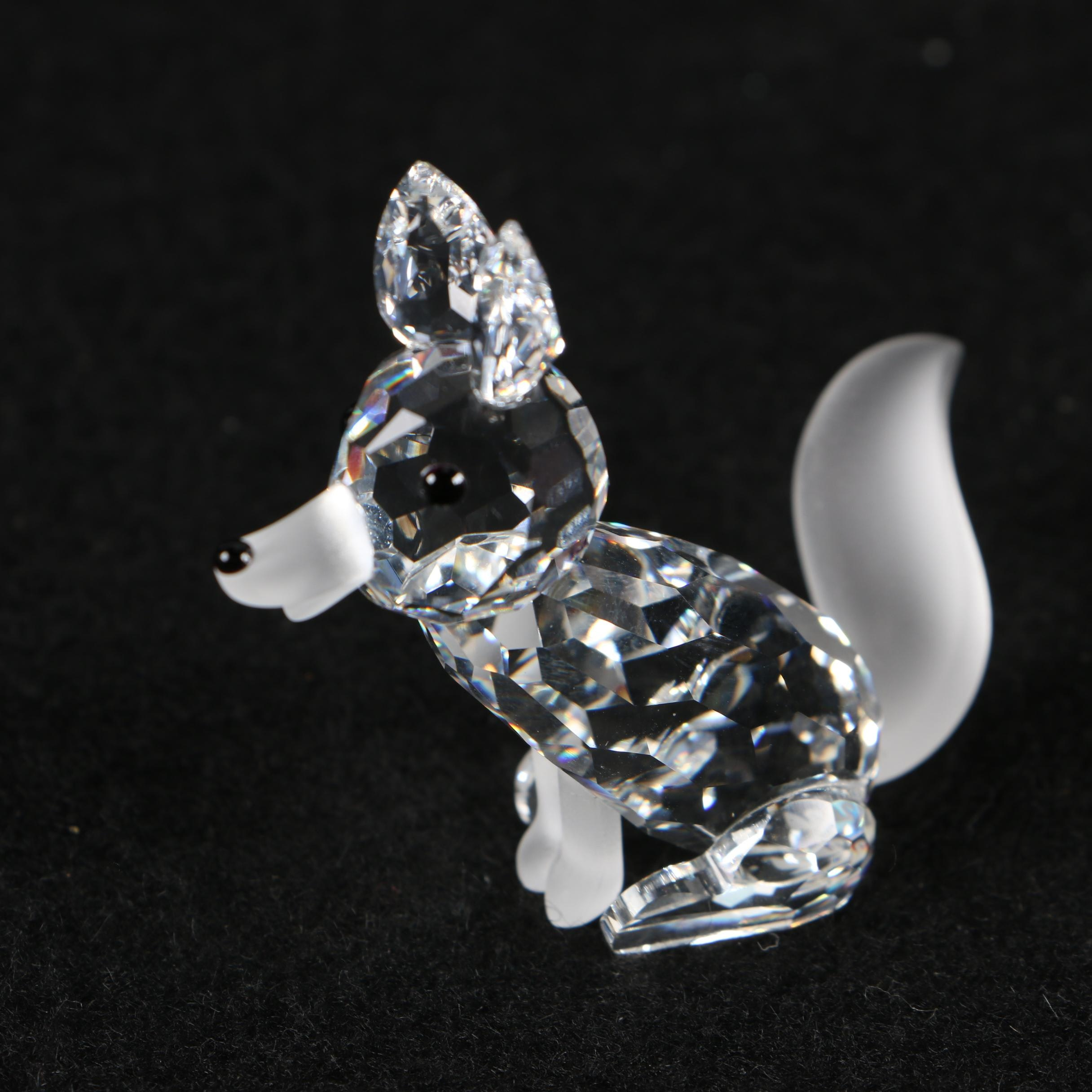 "Swarovski Crystal ""Fox"" Figurine by Adi Stocker"