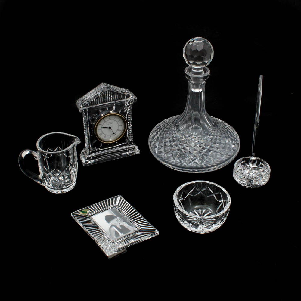 "Waterford Crystal ""Alana"" Ship's Decanter and Tableware"