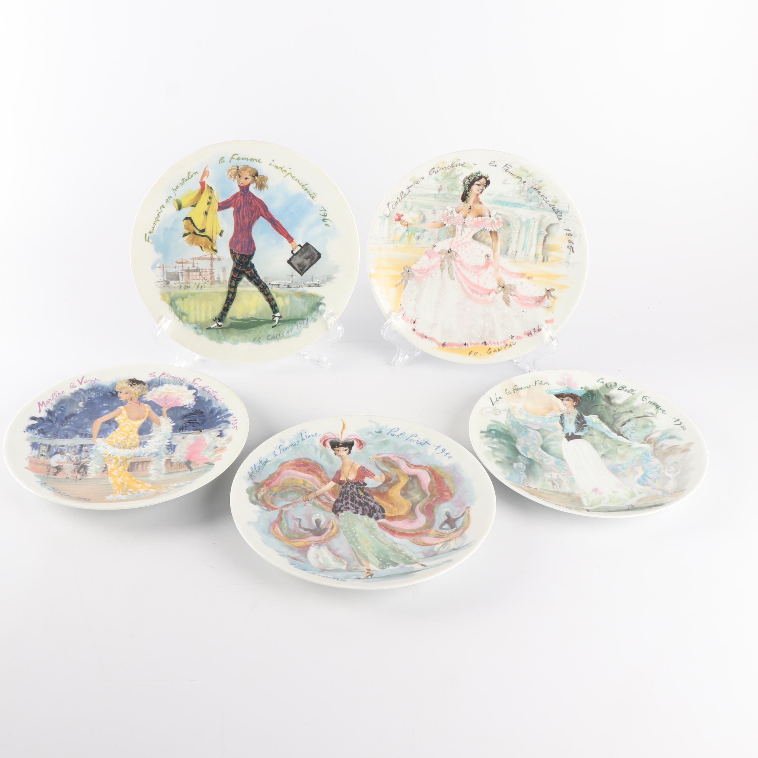 """D'Arceau-Limoges """"Les Femmes Du Siecle"""" Collector Plates"""