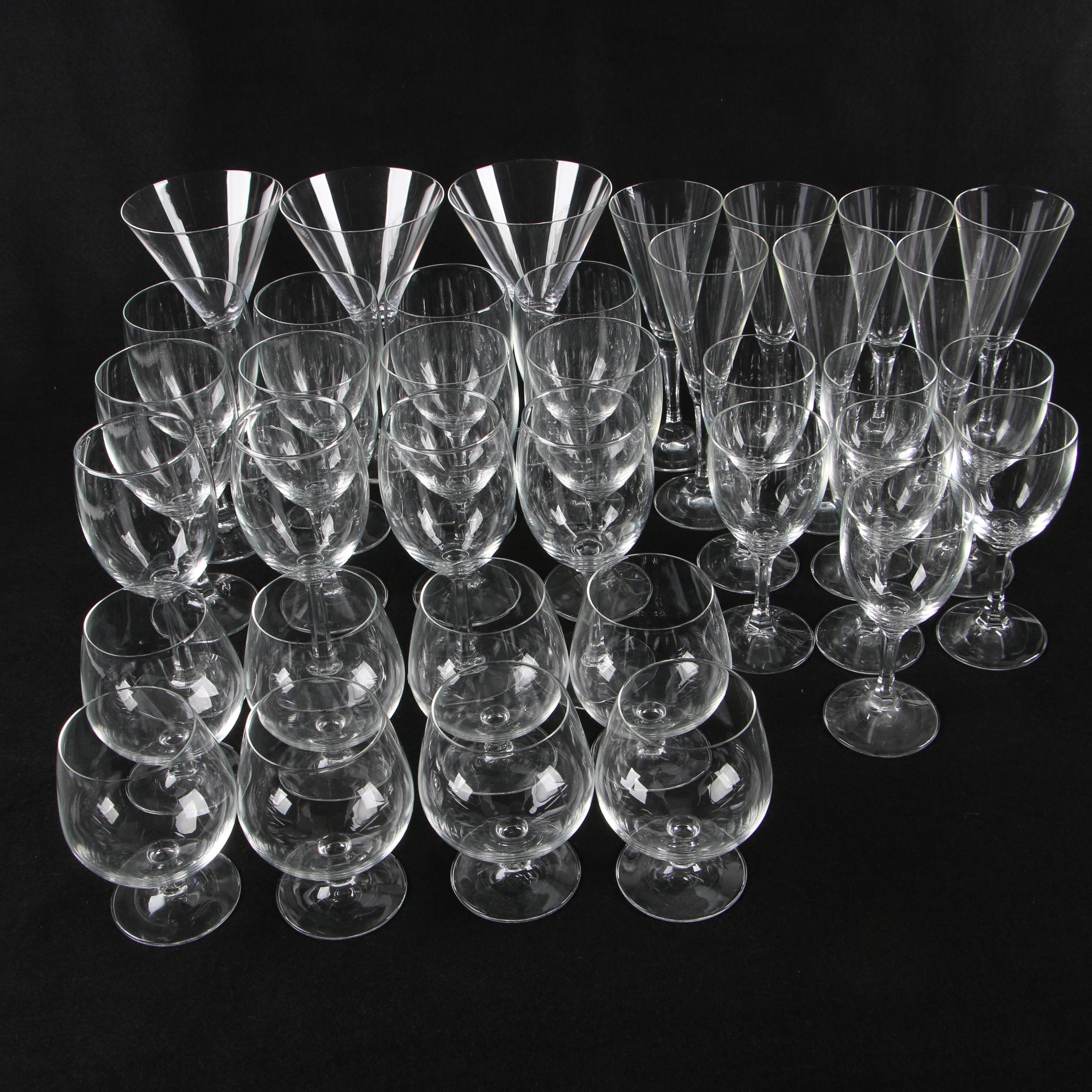 Pressed Glass Stemware Collection