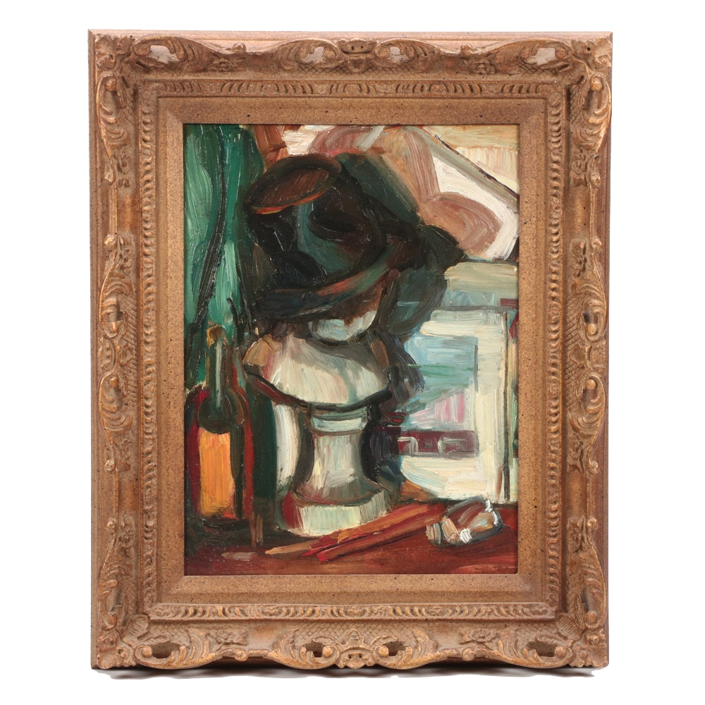 Arthur B. Carles Jr. Still Life with Hat Oil Painting