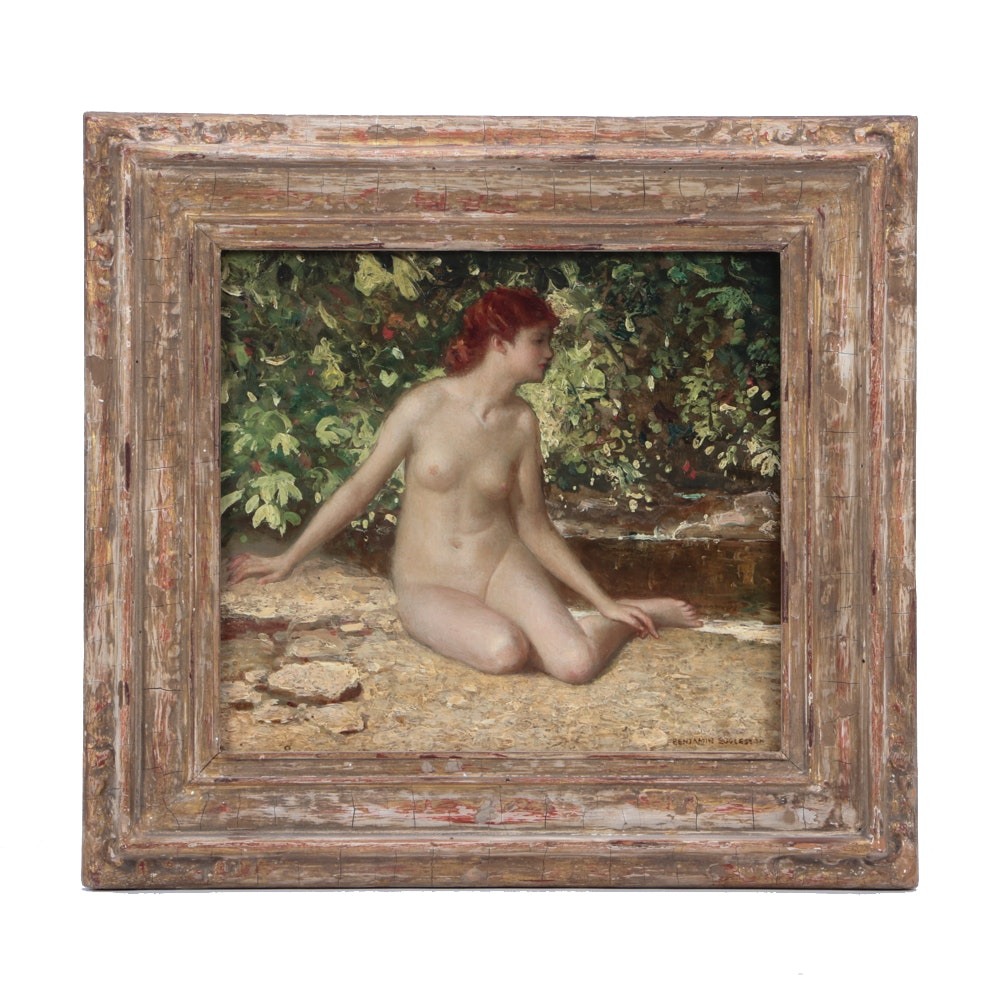 Benjamin Eggleston Oil Painting of Classical Female Nude
