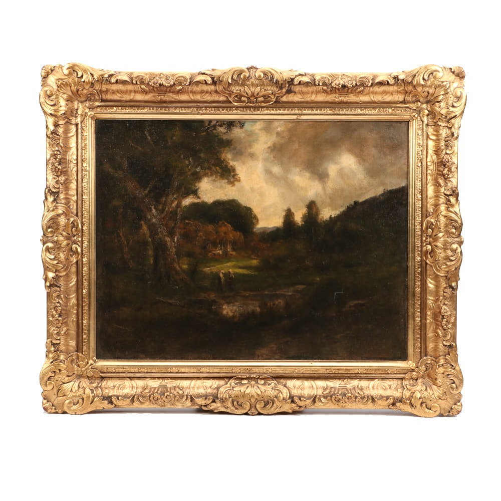 William Keith Turn-of-the-Century Oil Landscape Painting