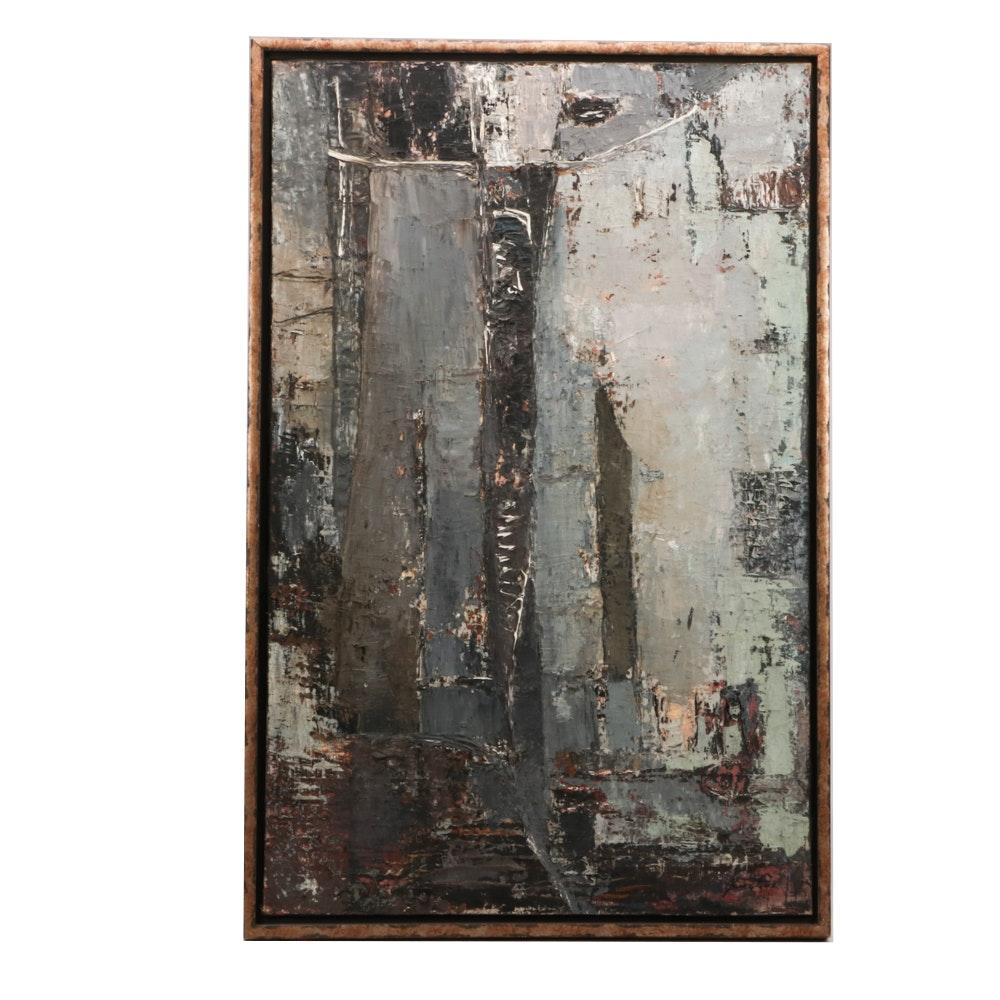 Janusz Bersz Abstract Impasto Oil Painting