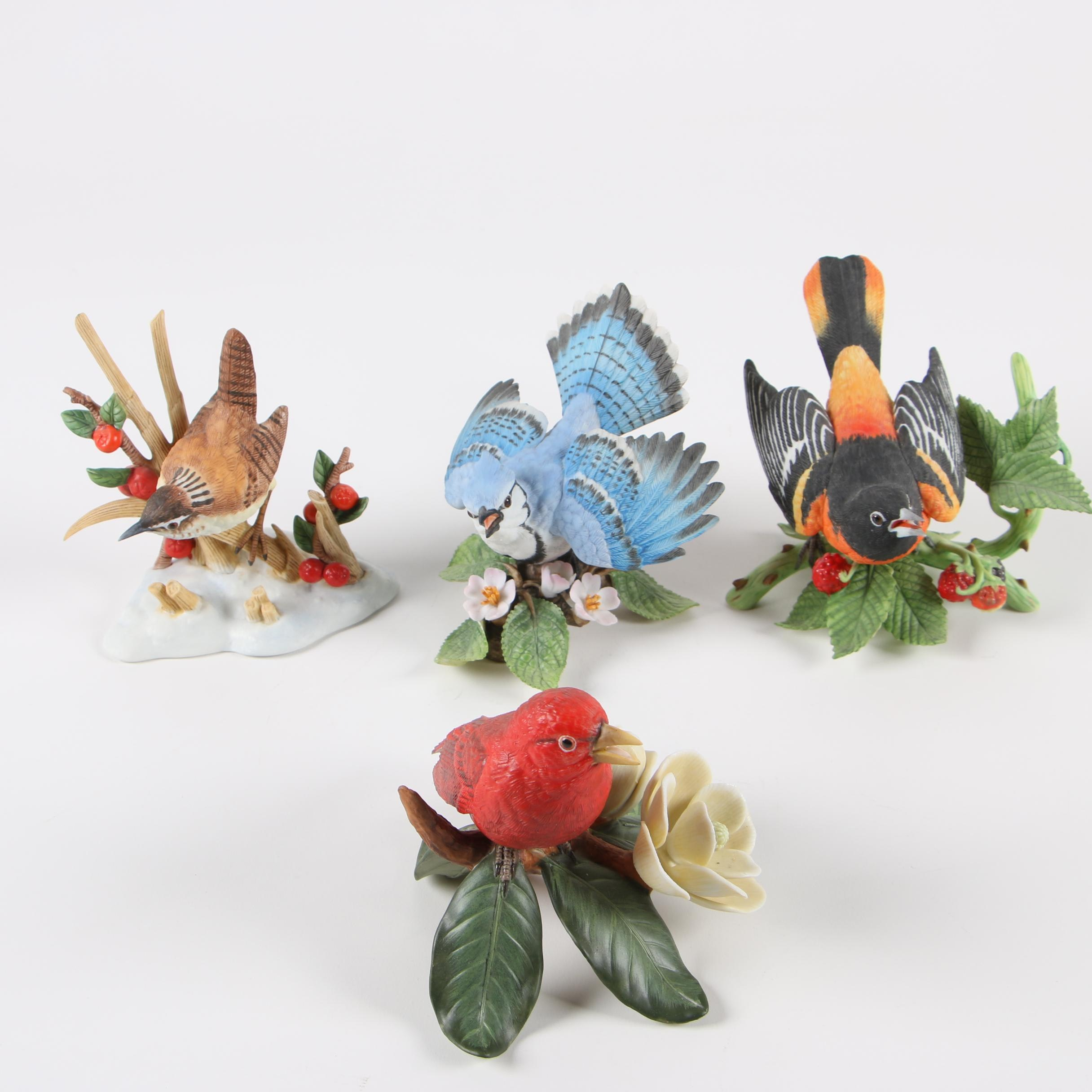 "Lenox Hand-Painted Porcelain Bird Figurines featuring ""Baltimore Oriole"""