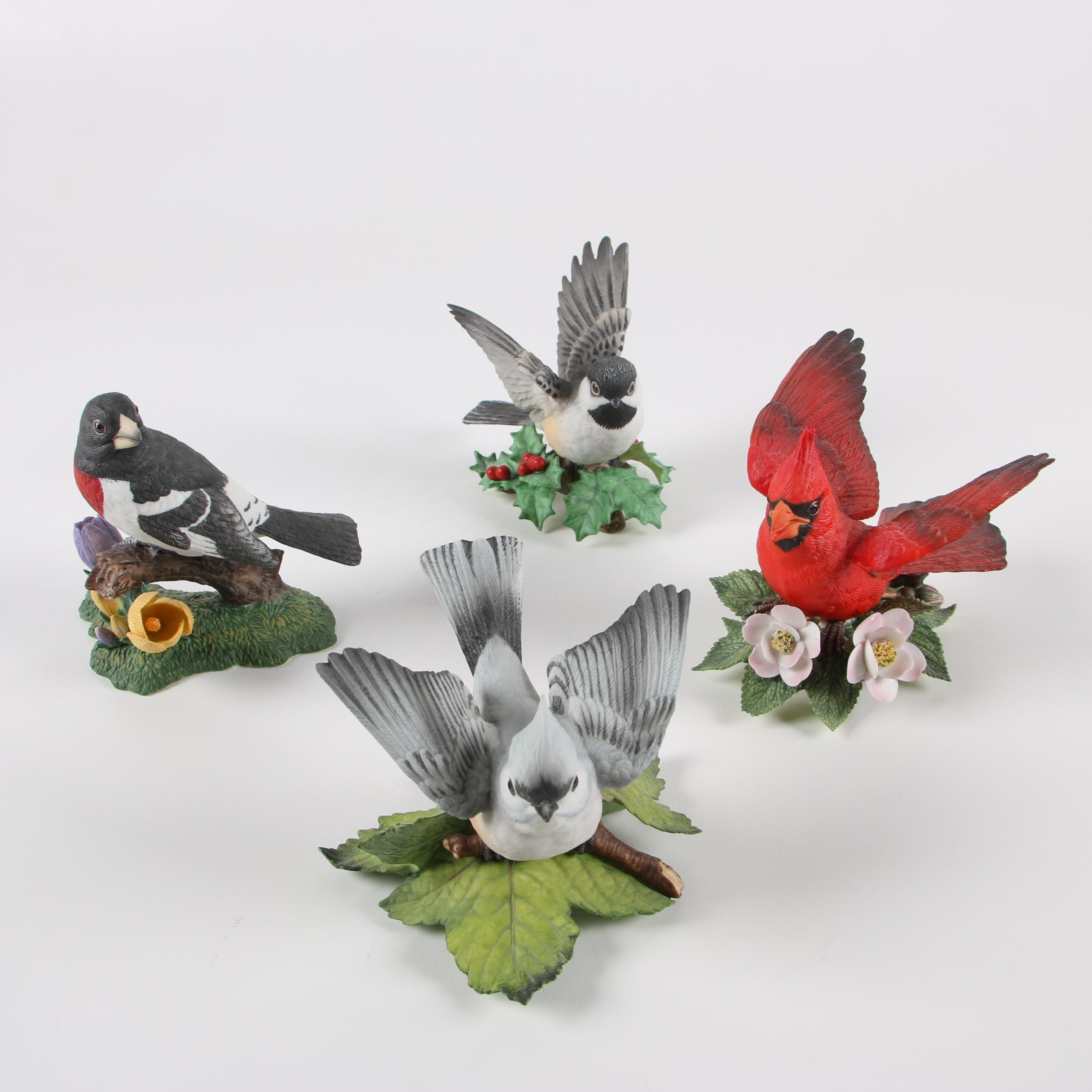 "Lenox Hand-Painted Porcelain Bird Figurines featuring ""Chickadee"""