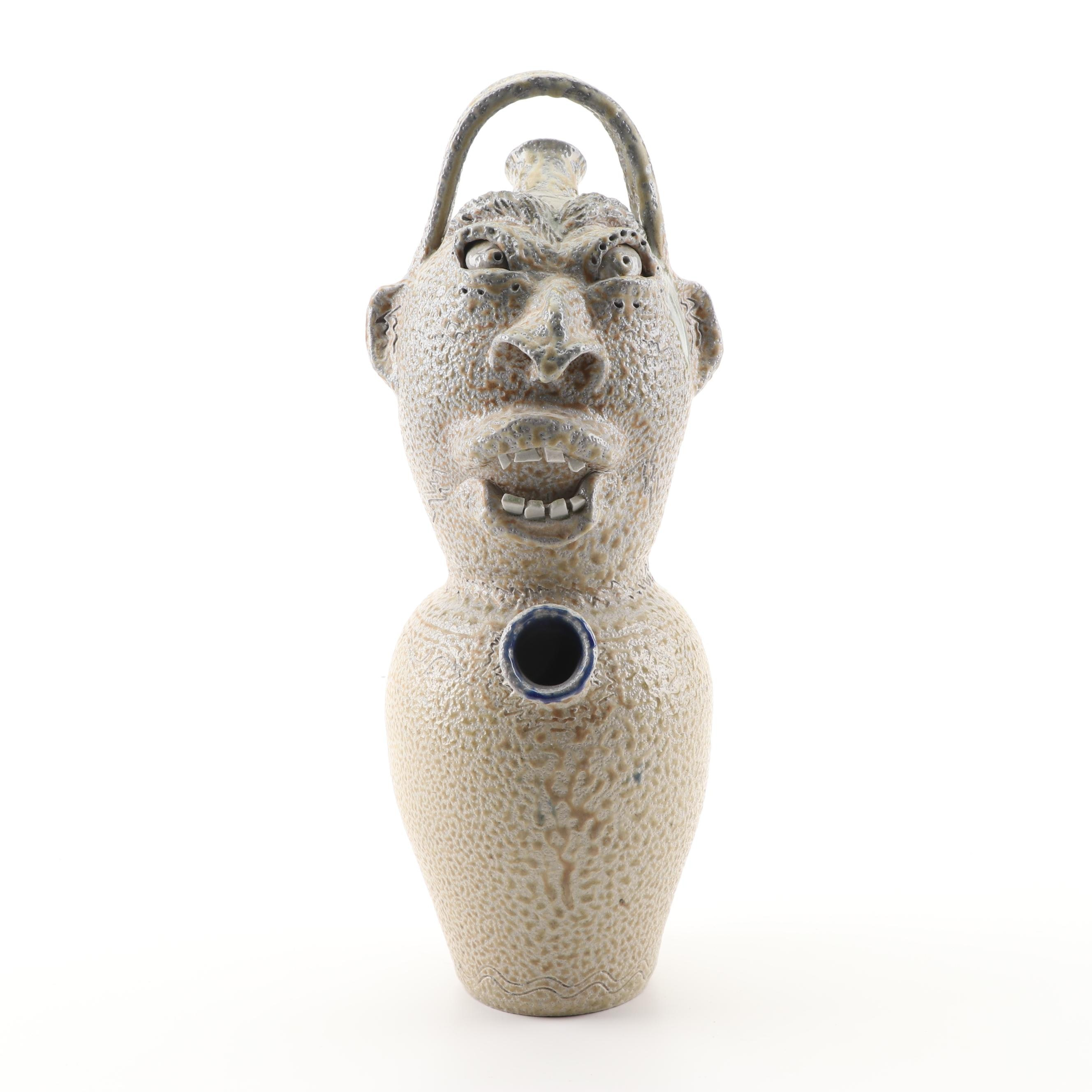Terry King of Seagrove, NC Stoneware Face Jug
