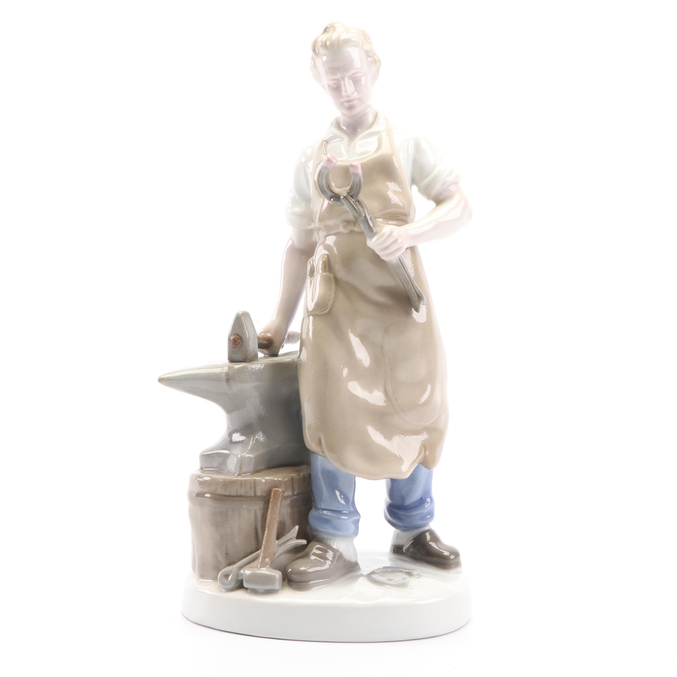 Gräfenthal Porcelain Farrier Figurine by Carl Scheidig