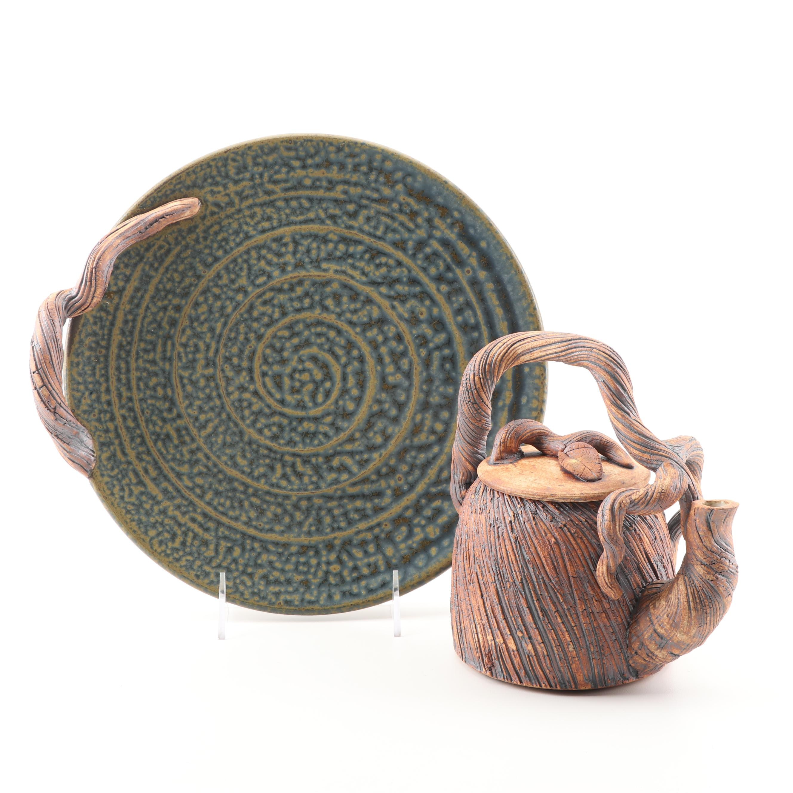 Black Mountain Studios Teapot and Serving Plate