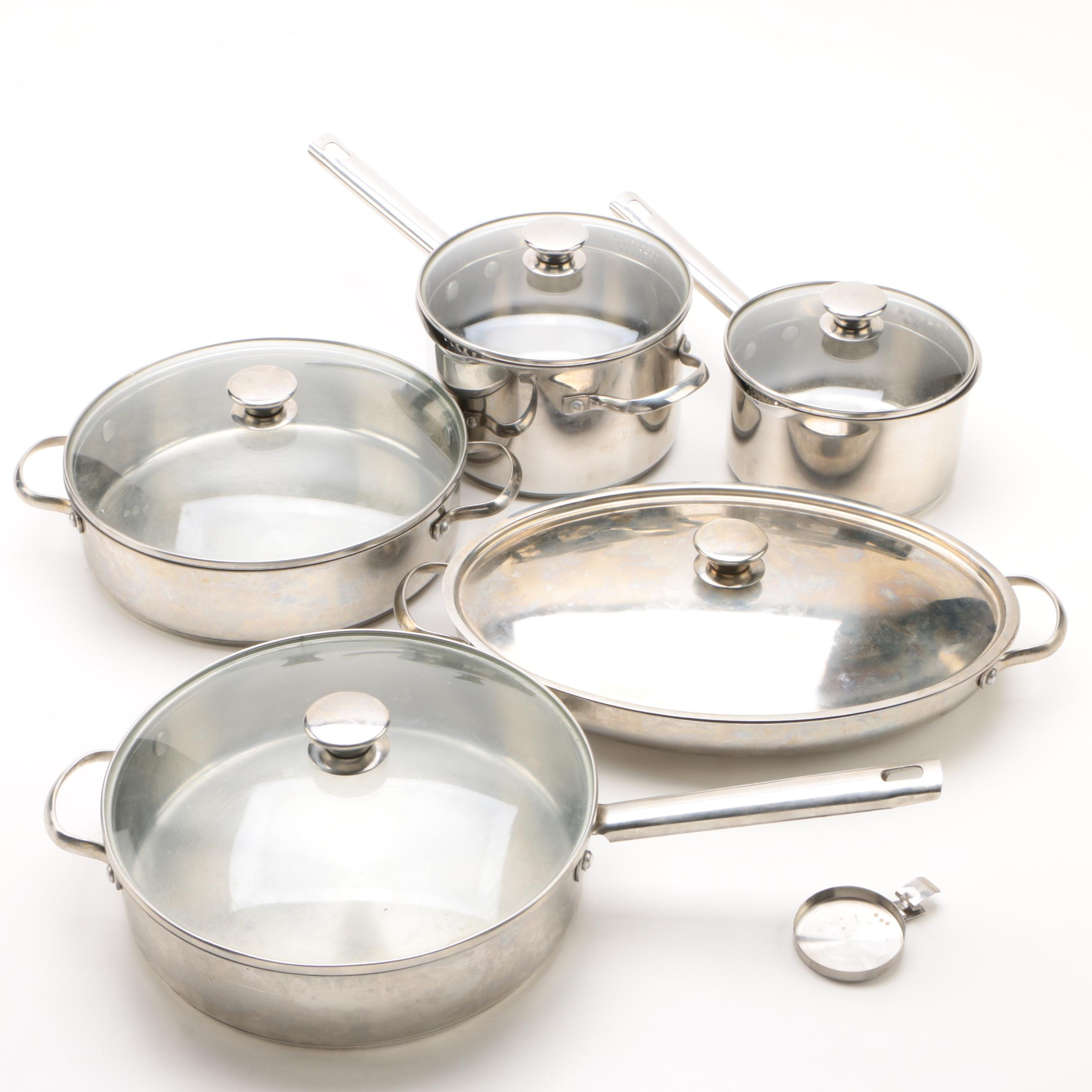 Wolfgang Puck Bistro Collection Stainless Steel Pots and Pans