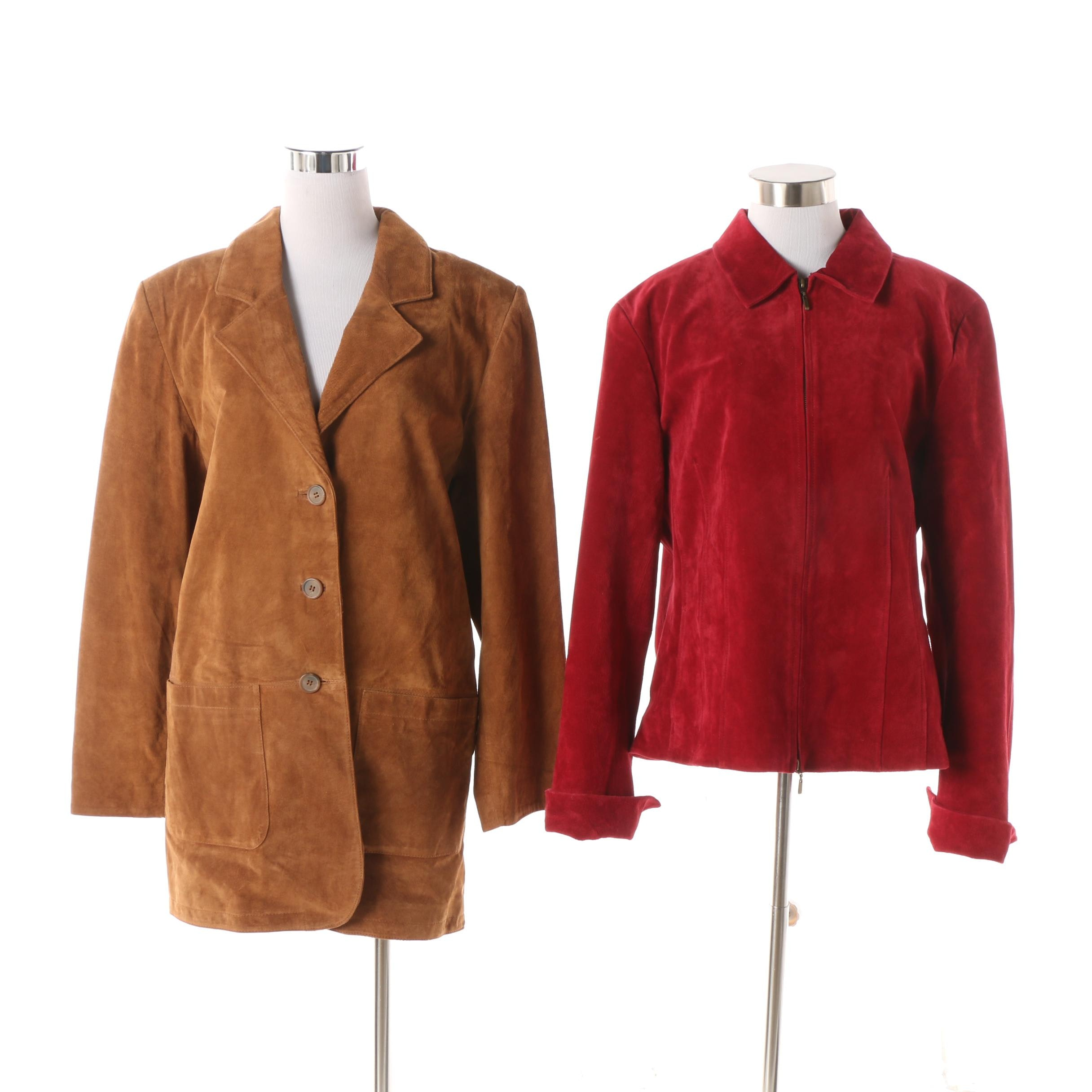 Women's Coldwater Creek and Margaret Godfrey Suede Jackets