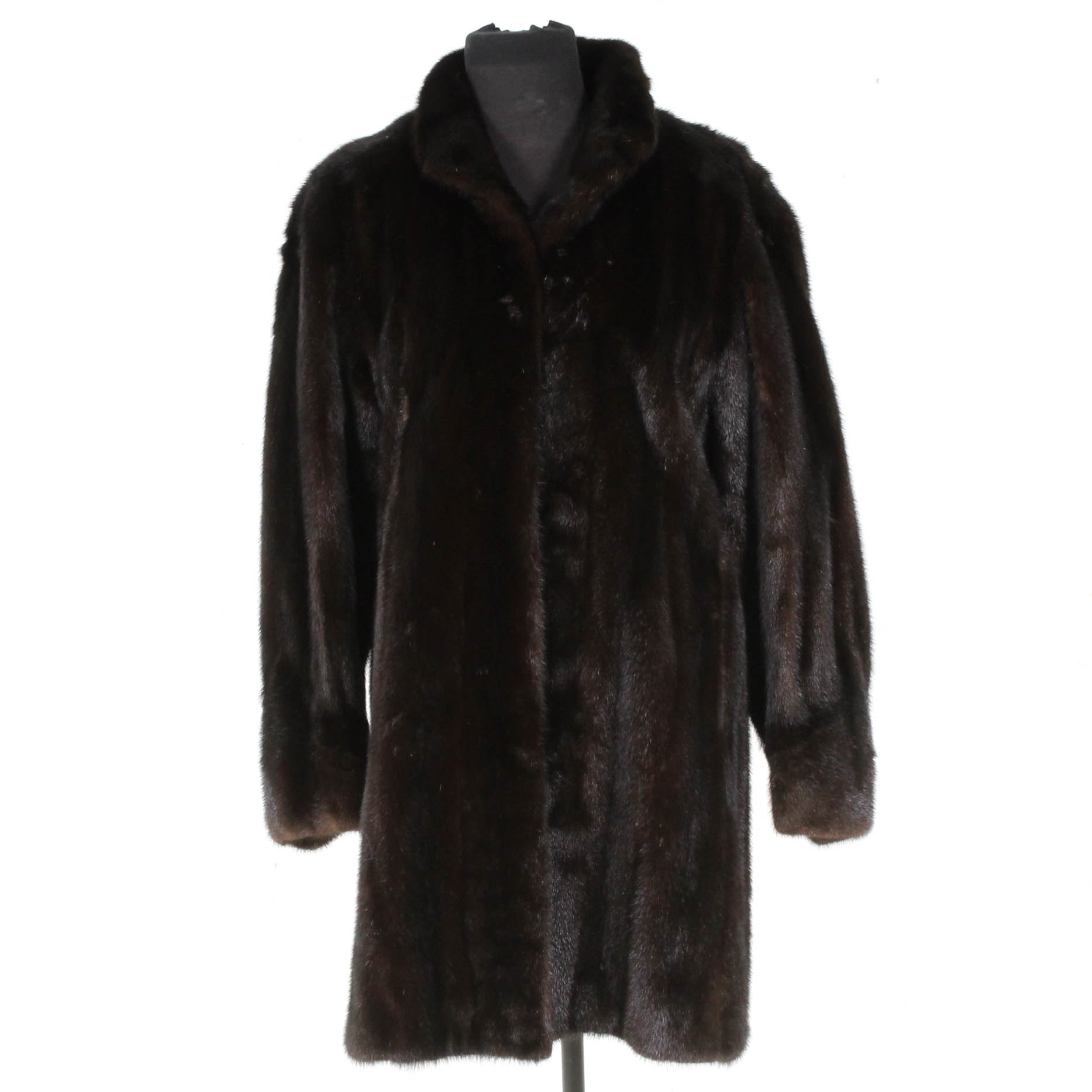 Koslow's Mink Fur Three-Quarter Length Coat