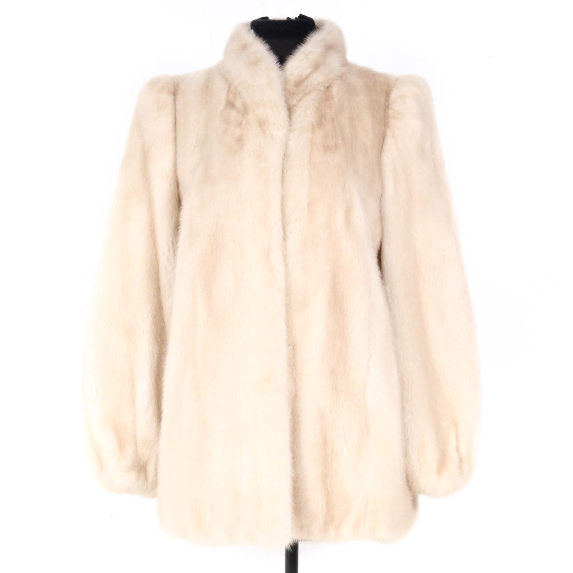 Vintage Rikken O'Brien Pearl Mink Fur Coat