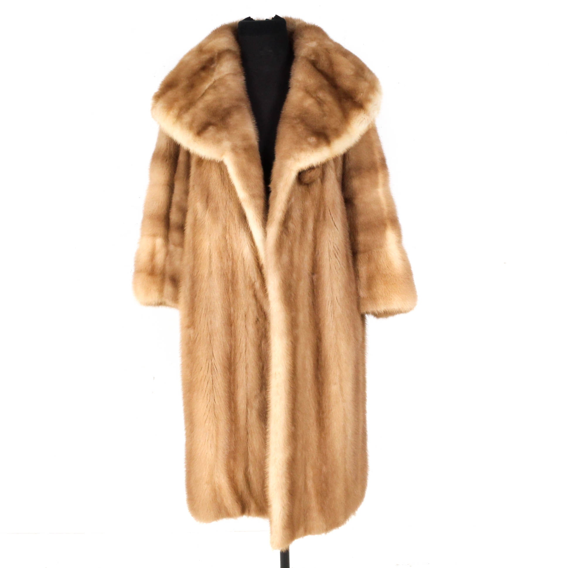 Oak Park Furriers Pastel Mink Fur Coat