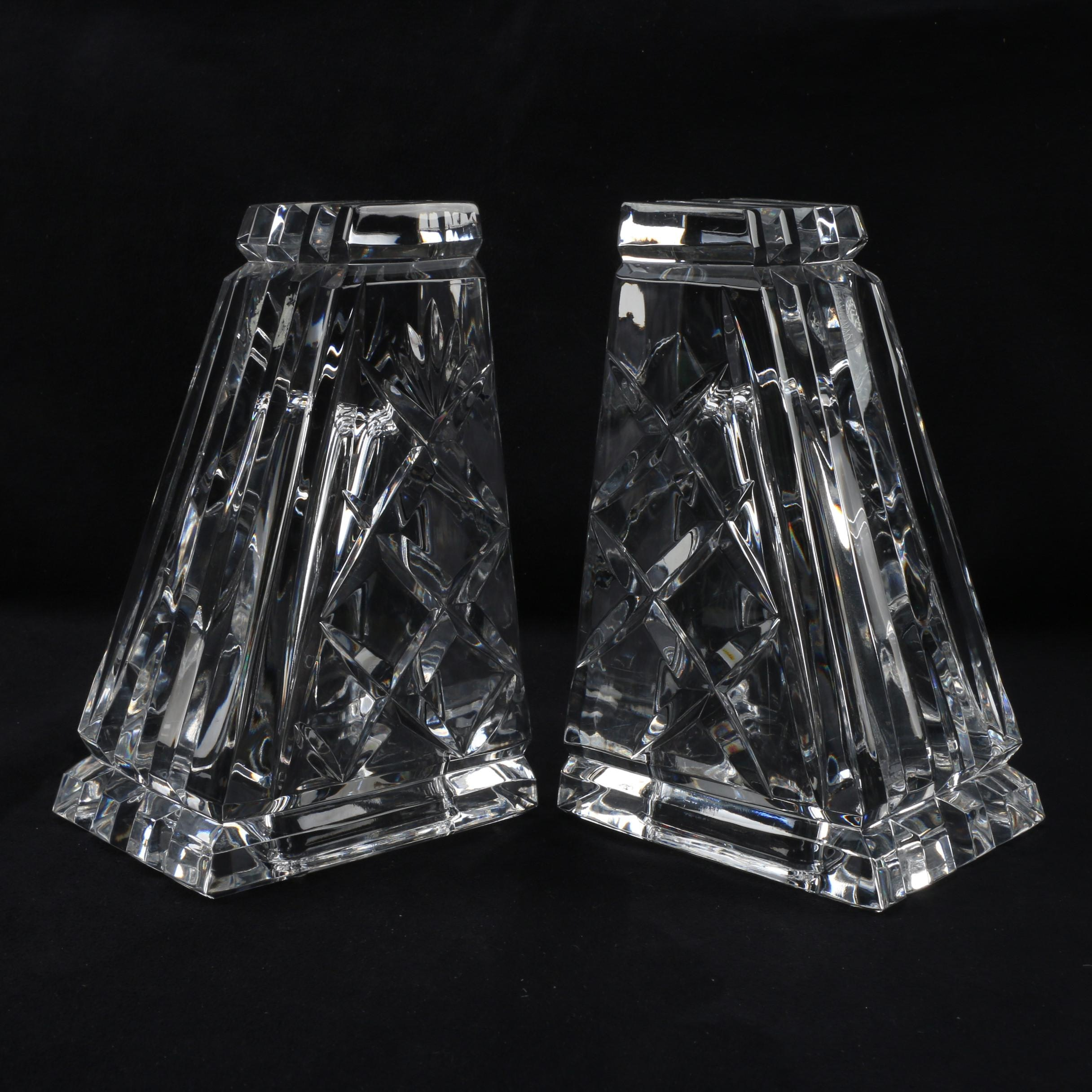 "Rogaška ""Saratoga"" Crystal Bookends"