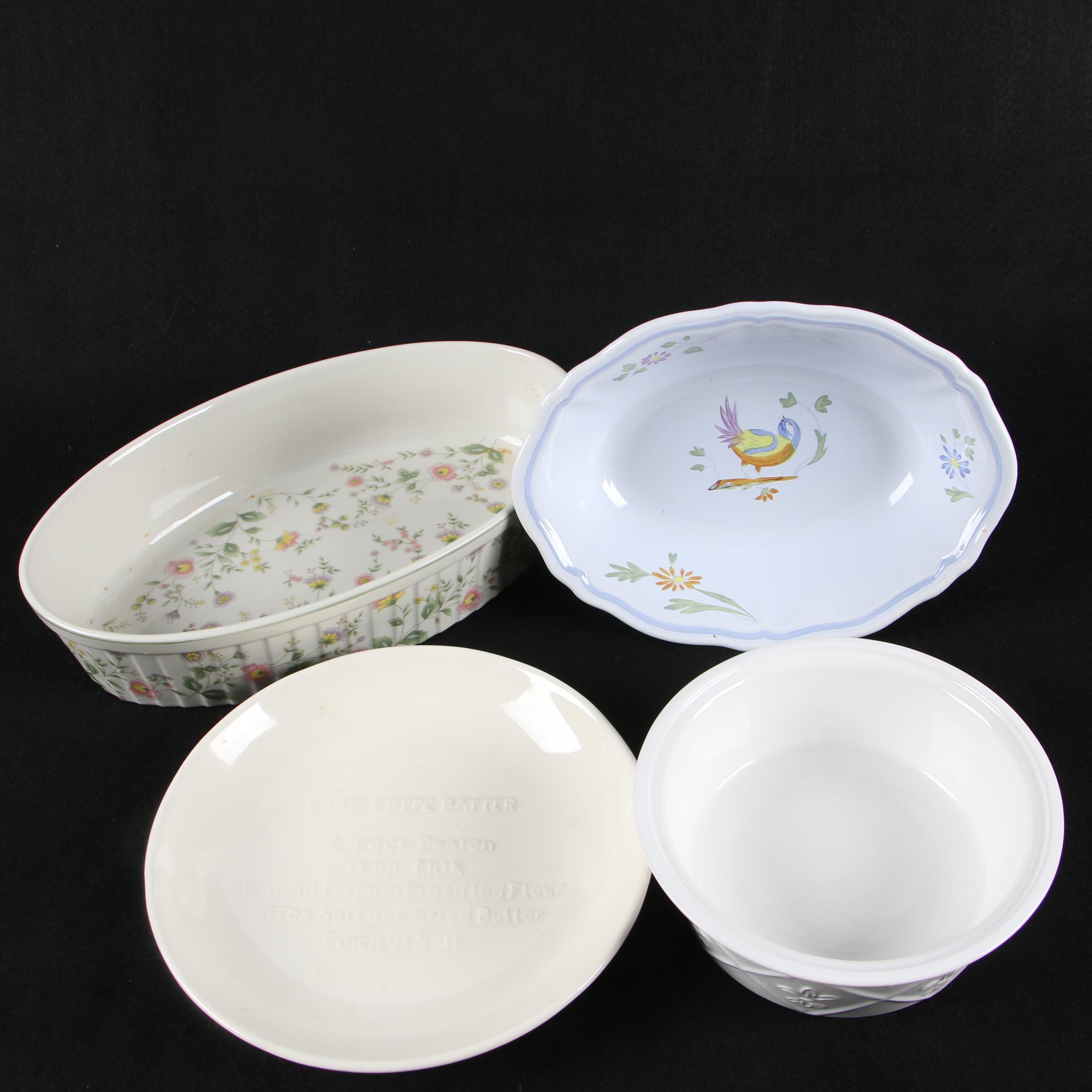 Bakeware and Serveware Featuring Longchamp