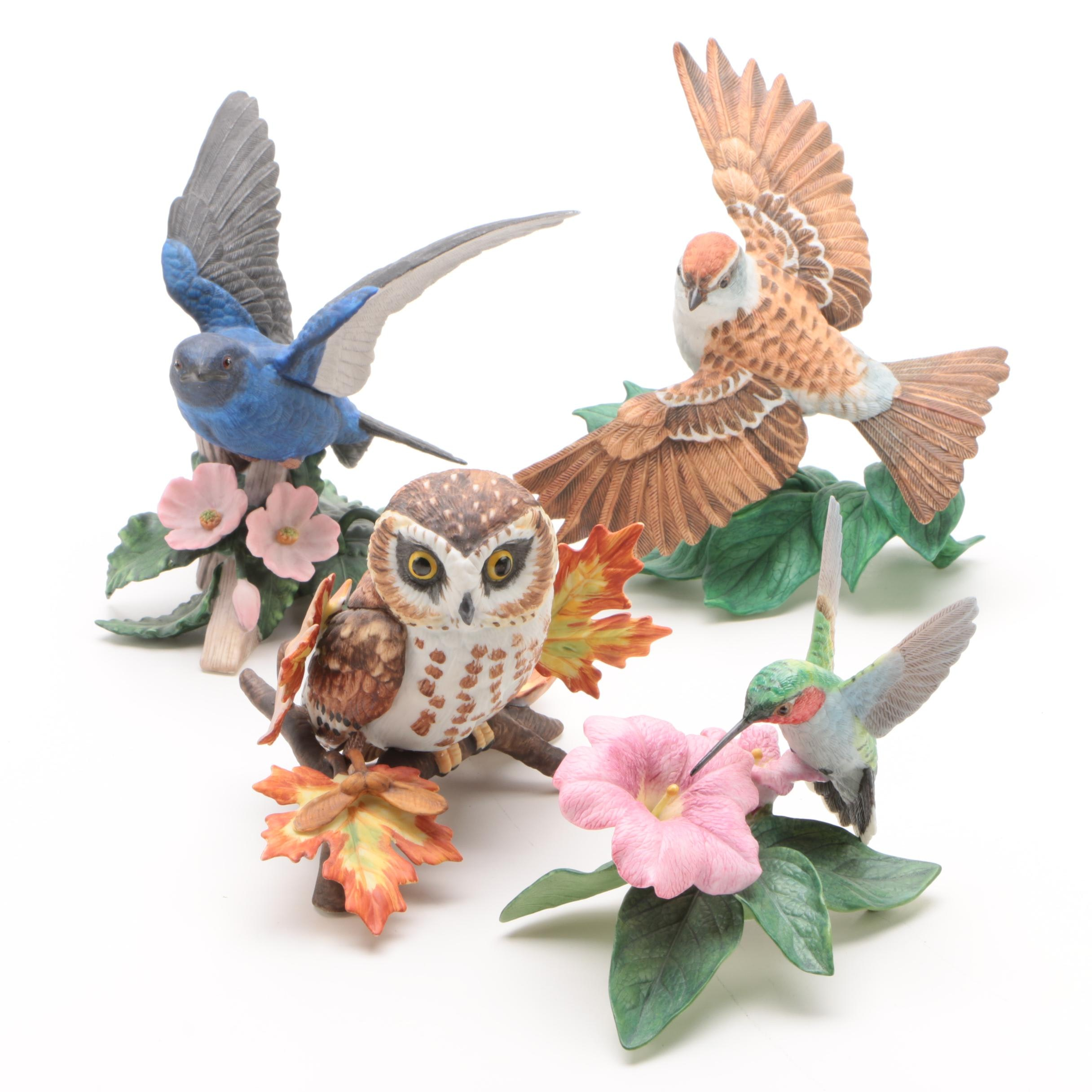 "Lenox Hand-Painted Porcelain Bird Figurines featuring ""Purple Martin"""