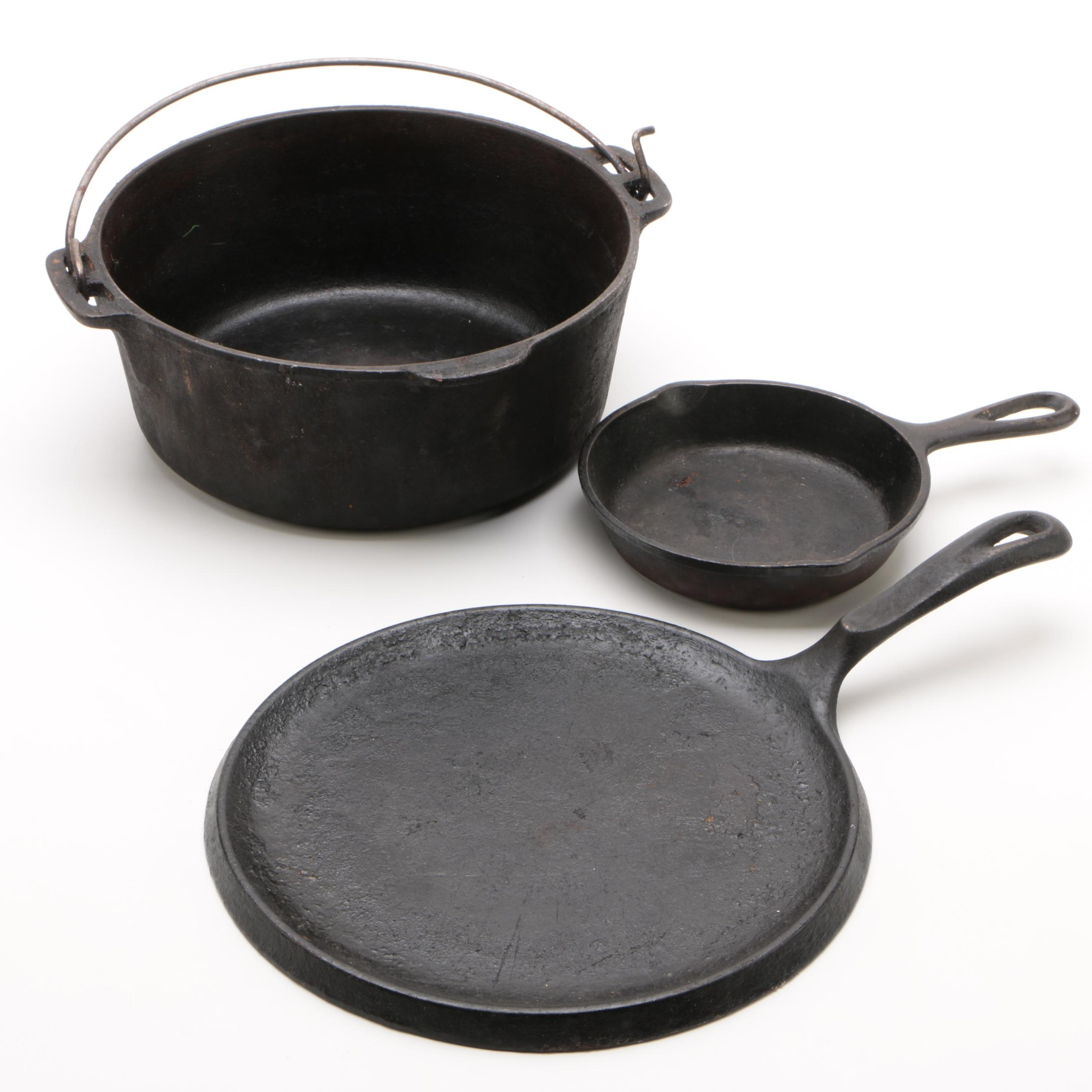 Cast Iron Cookware Featuring Wagner