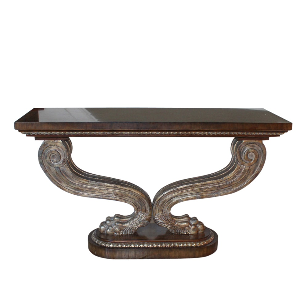 Clawed Foot Console Table